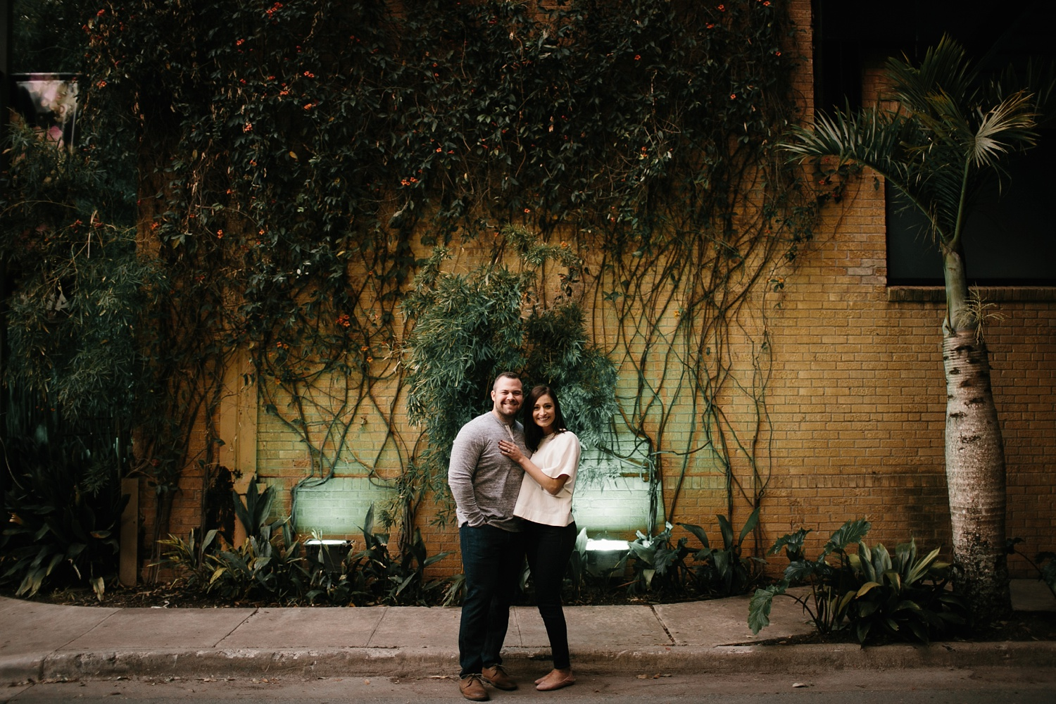 Kadee + Tyler _ a forest and city skyline engagement shoot in Dallas by North Texas Wedding Photographer Rachel Meagan Photography_45