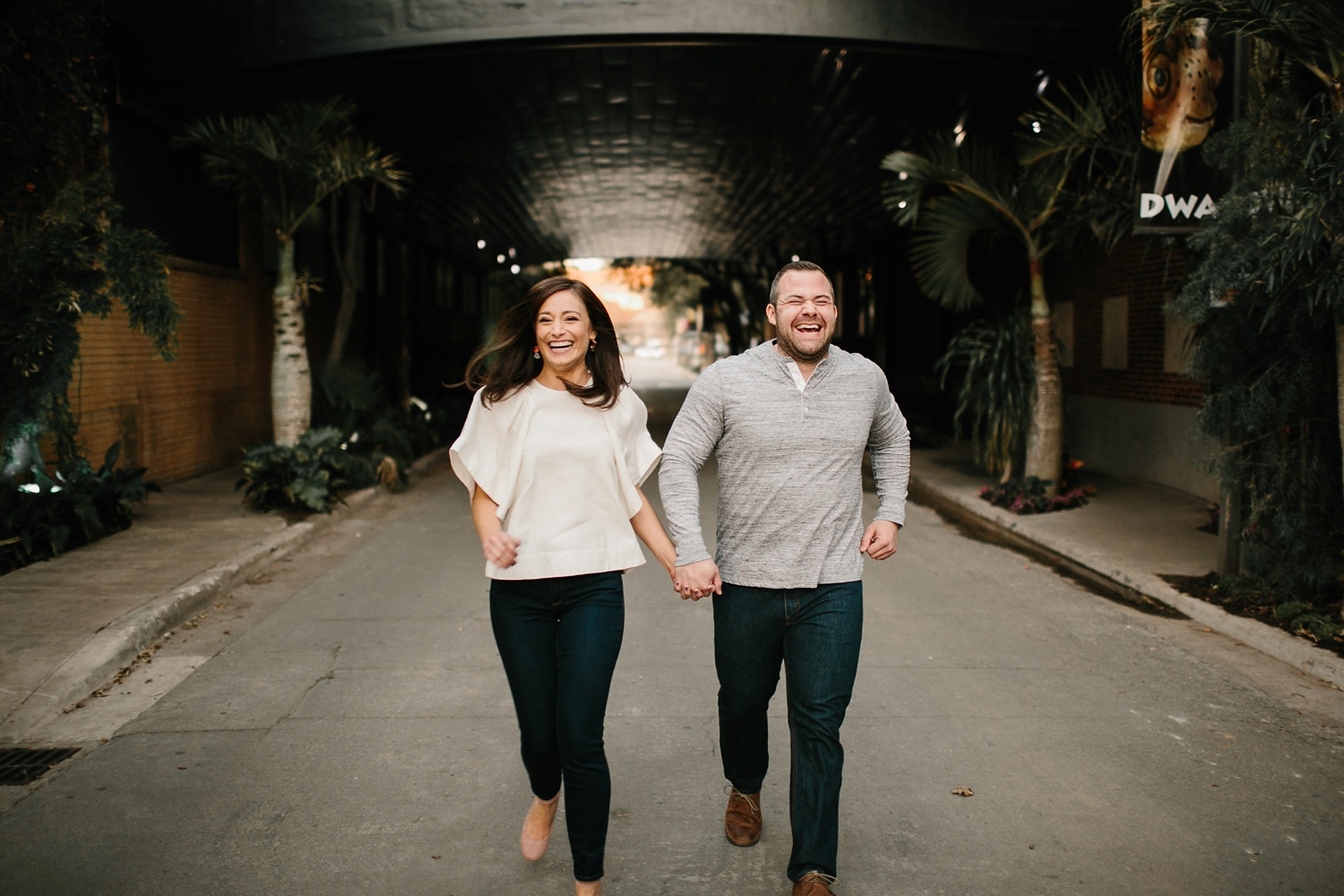 Kadee + Tyler _ a forest and city skyline engagement shoot in Dallas by North Texas Wedding Photographer Rachel Meagan Photography_49