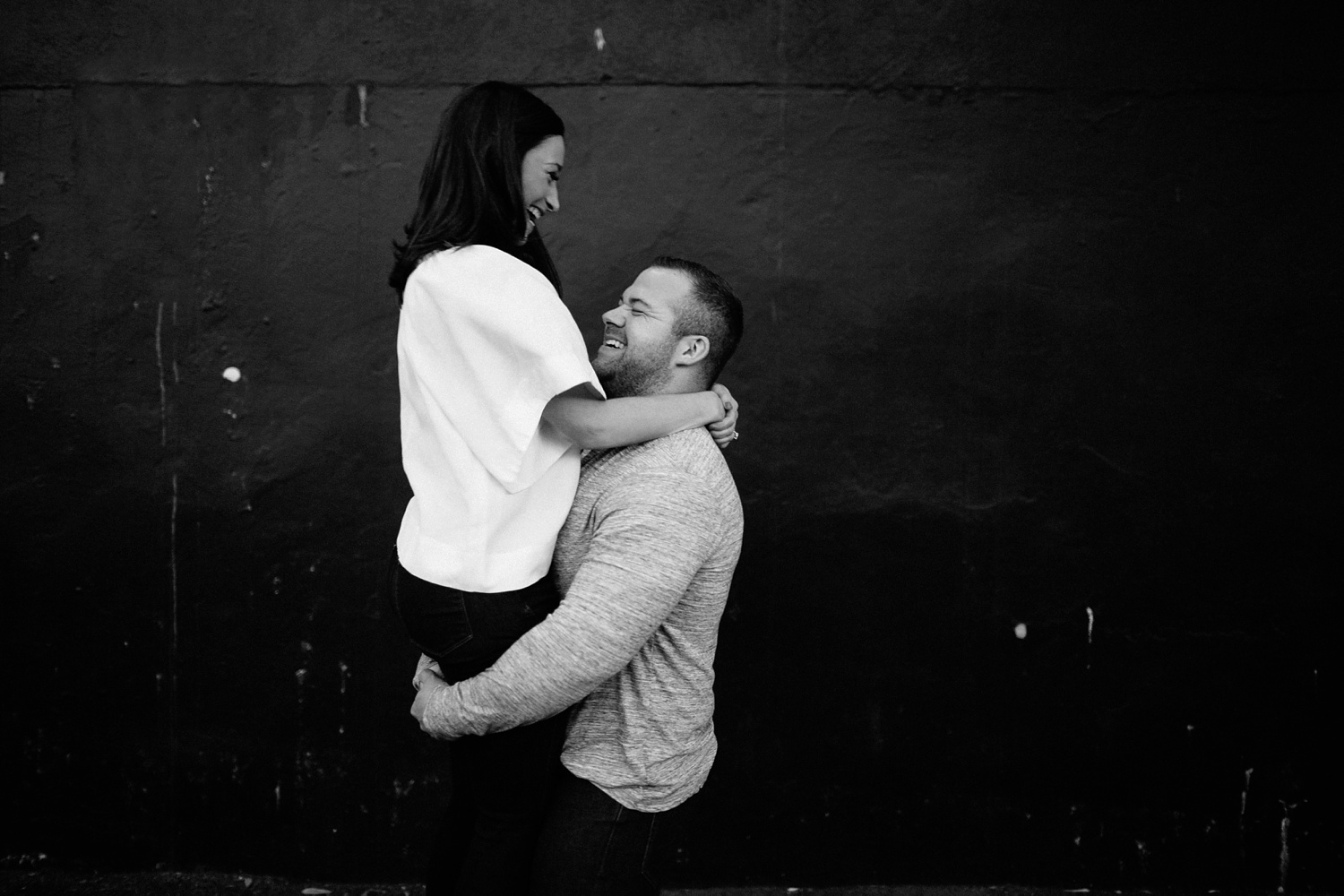 Kadee + Tyler _ a forest and city skyline engagement shoot in Dallas by North Texas Wedding Photographer Rachel Meagan Photography_51