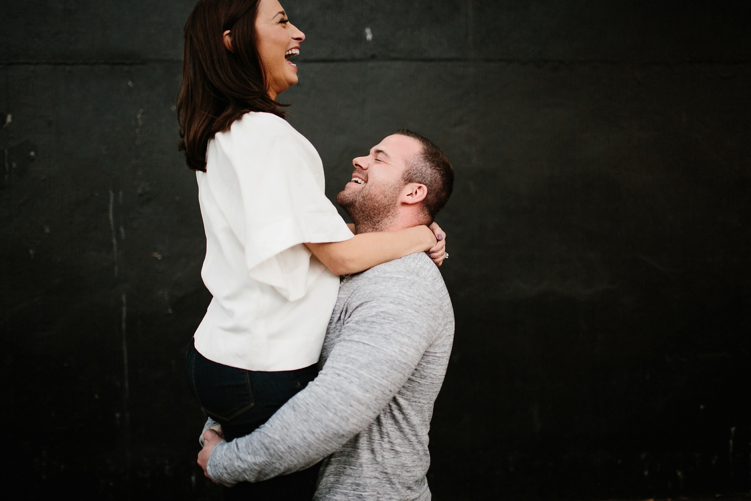 Kadee + Tyler _ a forest and city skyline engagement shoot in Dallas by North Texas Wedding Photographer Rachel Meagan Photography_52