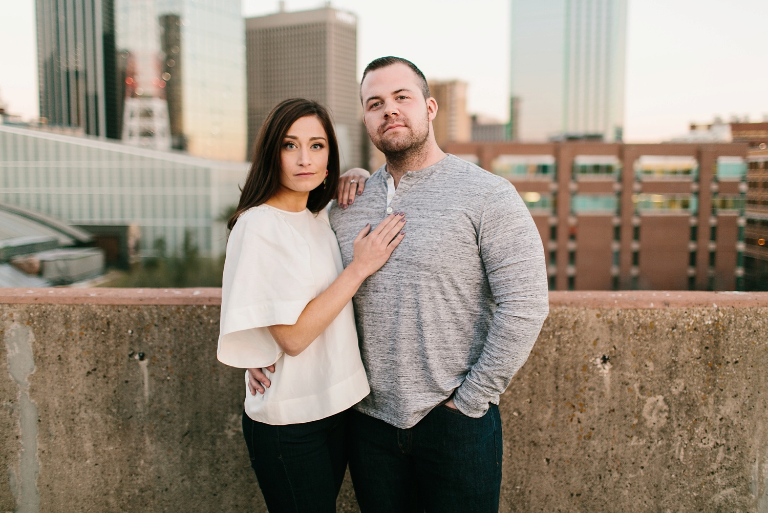 Kadee + Tyler _ a forest and city skyline engagement shoot in Dallas by North Texas Wedding Photographer Rachel Meagan Photography_54