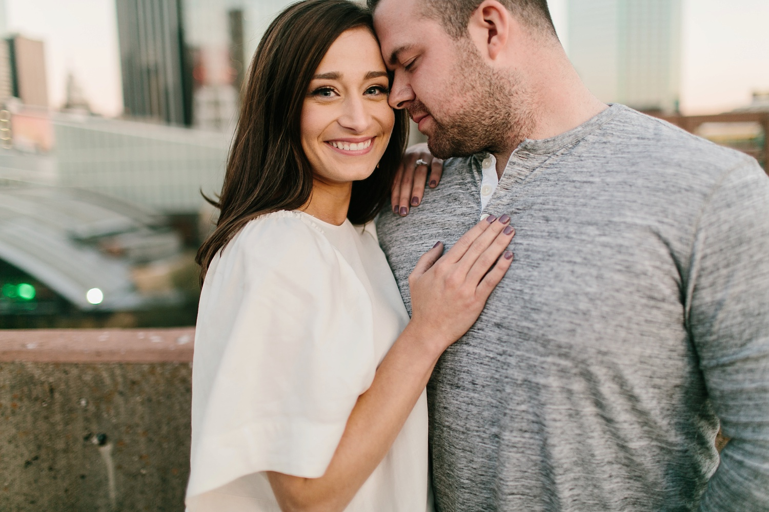 Kadee + Tyler _ a forest and city skyline engagement shoot in Dallas by North Texas Wedding Photographer Rachel Meagan Photography_55