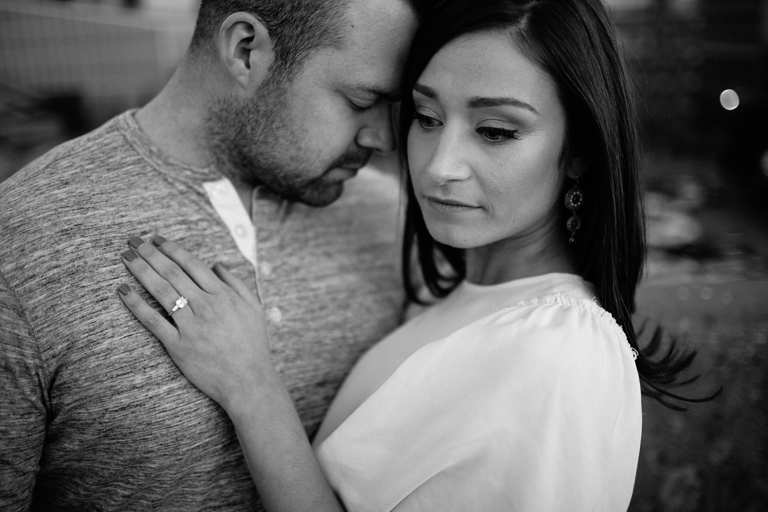 Kadee + Tyler _ a forest and city skyline engagement shoot in Dallas by North Texas Wedding Photographer Rachel Meagan Photography_56