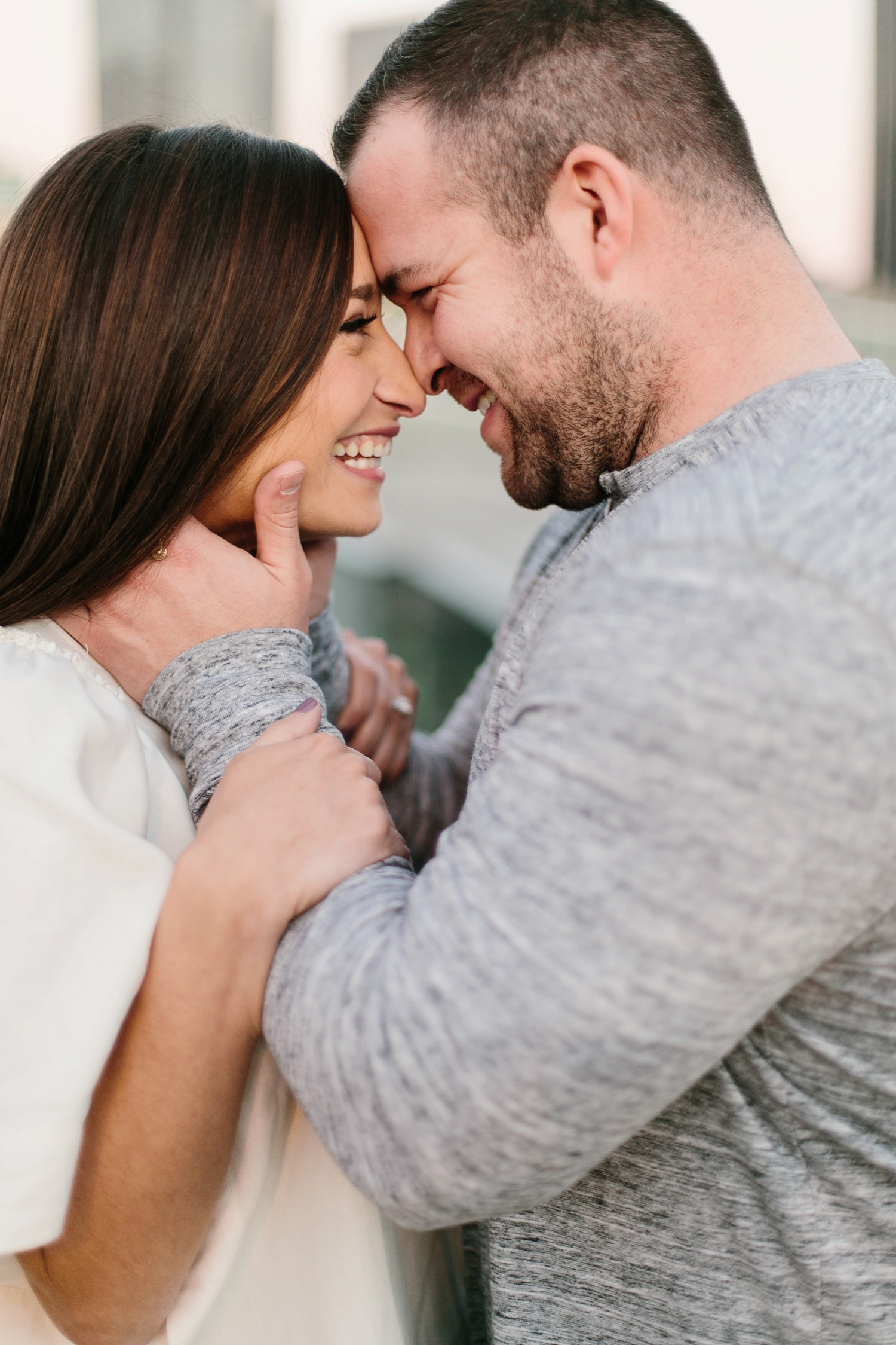Kadee + Tyler _ a forest and city skyline engagement shoot in Dallas by North Texas Wedding Photographer Rachel Meagan Photography_57