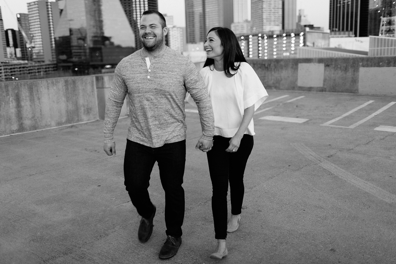 Kadee + Tyler _ a forest and city skyline engagement shoot in Dallas by North Texas Wedding Photographer Rachel Meagan Photography_60