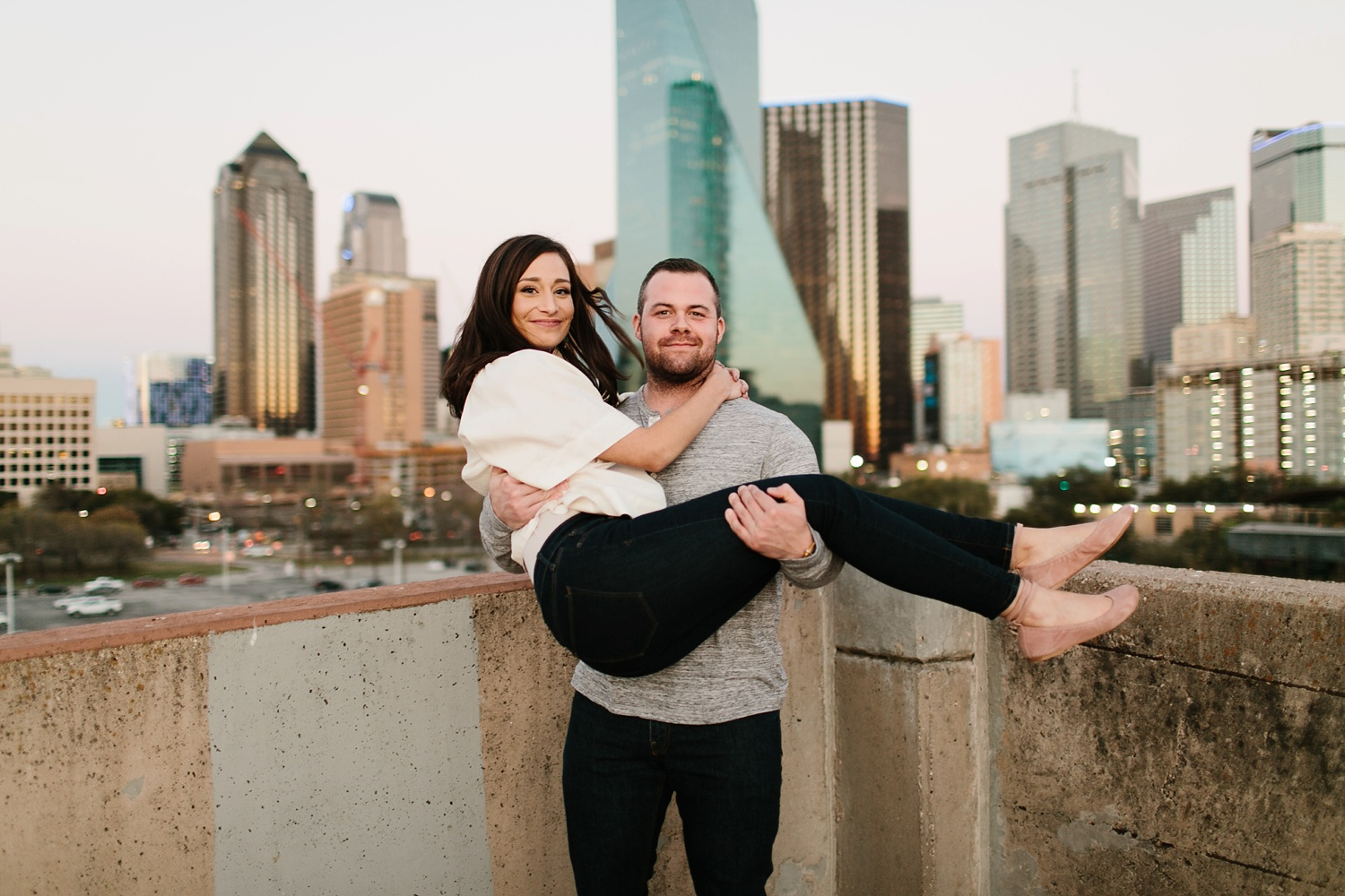 Kadee + Tyler _ a forest and city skyline engagement shoot in Dallas by North Texas Wedding Photographer Rachel Meagan Photography_61