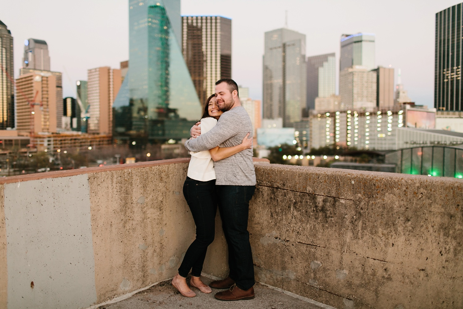Kadee + Tyler _ a forest and city skyline engagement shoot in Dallas by North Texas Wedding Photographer Rachel Meagan Photography_65