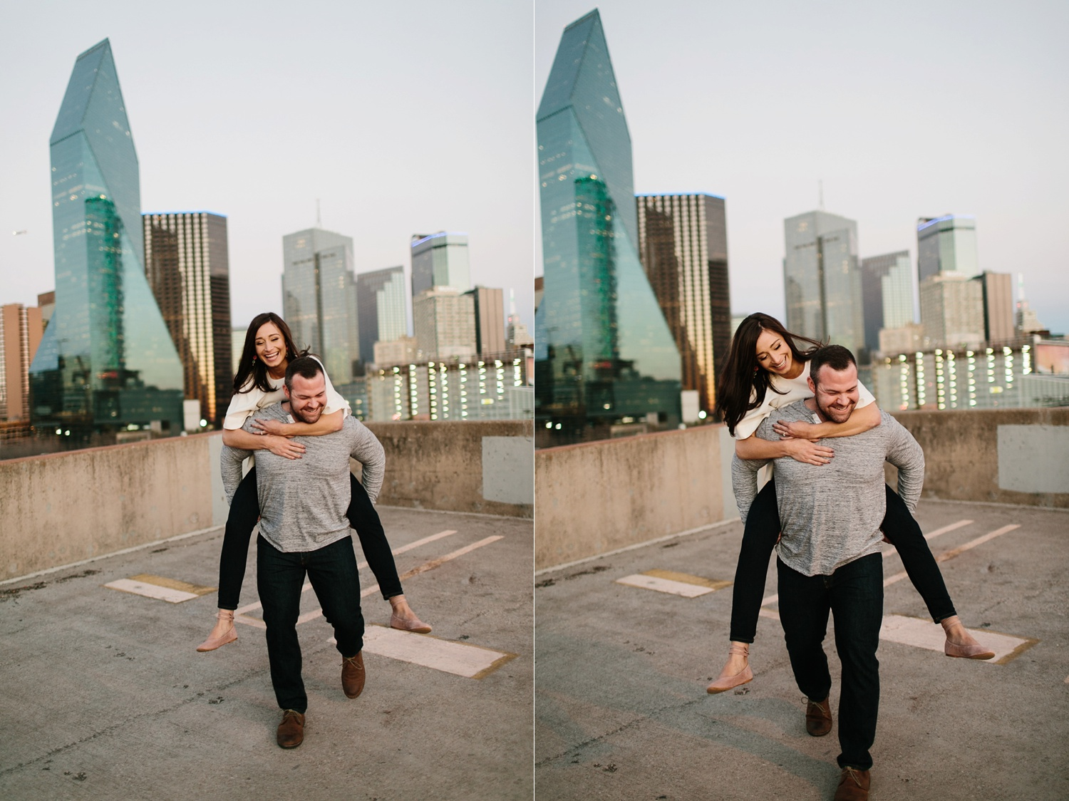 Kadee + Tyler _ a forest and city skyline engagement shoot in Dallas by North Texas Wedding Photographer Rachel Meagan Photography_66