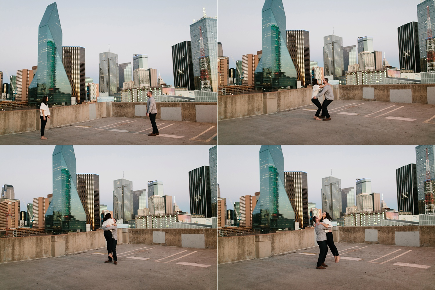 Kadee + Tyler _ a forest and city skyline engagement shoot in Dallas by North Texas Wedding Photographer Rachel Meagan Photography_67
