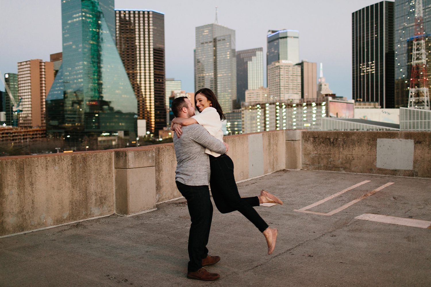 Kadee + Tyler _ a forest and city skyline engagement shoot in Dallas by North Texas Wedding Photographer Rachel Meagan Photography_68