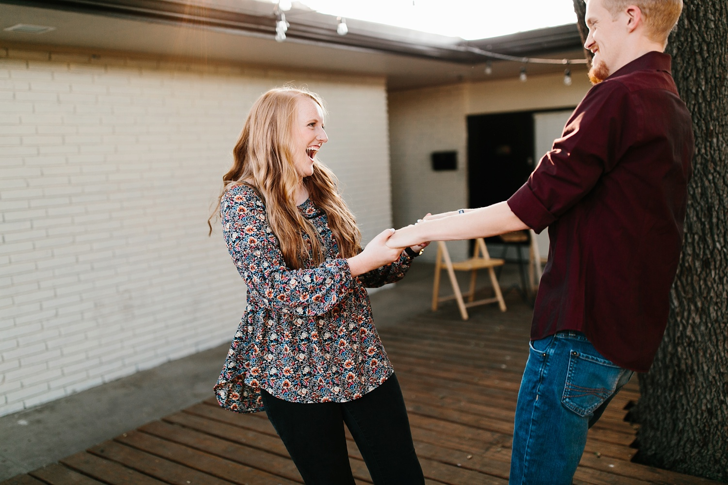 Kayla + Alex _ a joyful and loving engagement shoot in Waco, Texas by North Texas Wedding Photographer Rachel Meagan Photography _12