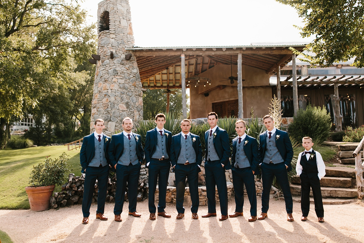 a passionate, emotion filled summer wedding with with navy and burgandy accents at The Brooks at Weatherford by North Texas Wedding Photographer, Rachel Meagan Photography _026