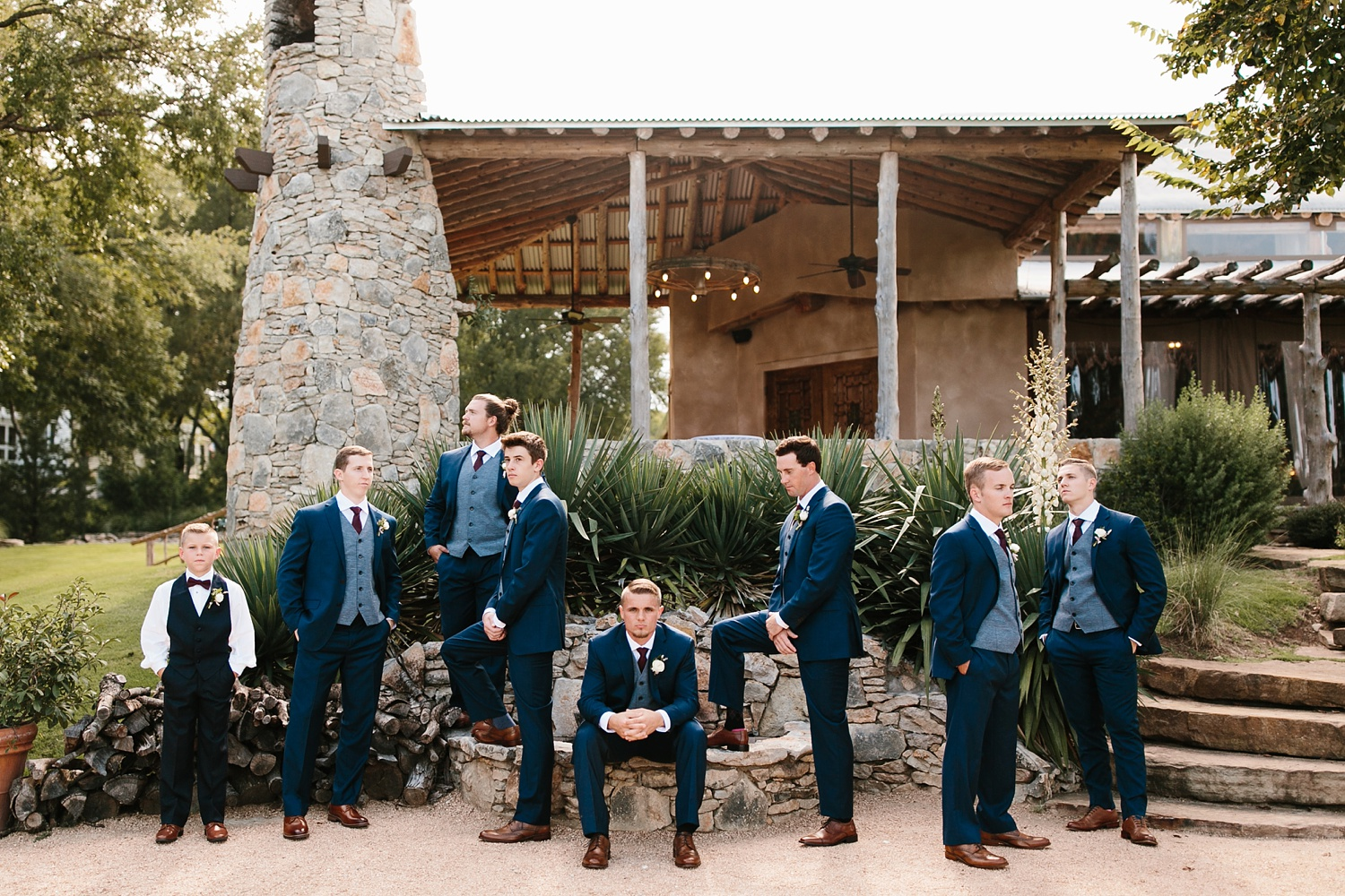 a passionate, emotion filled summer wedding with with navy and burgandy accents at The Brooks at Weatherford by North Texas Wedding Photographer, Rachel Meagan Photography _029