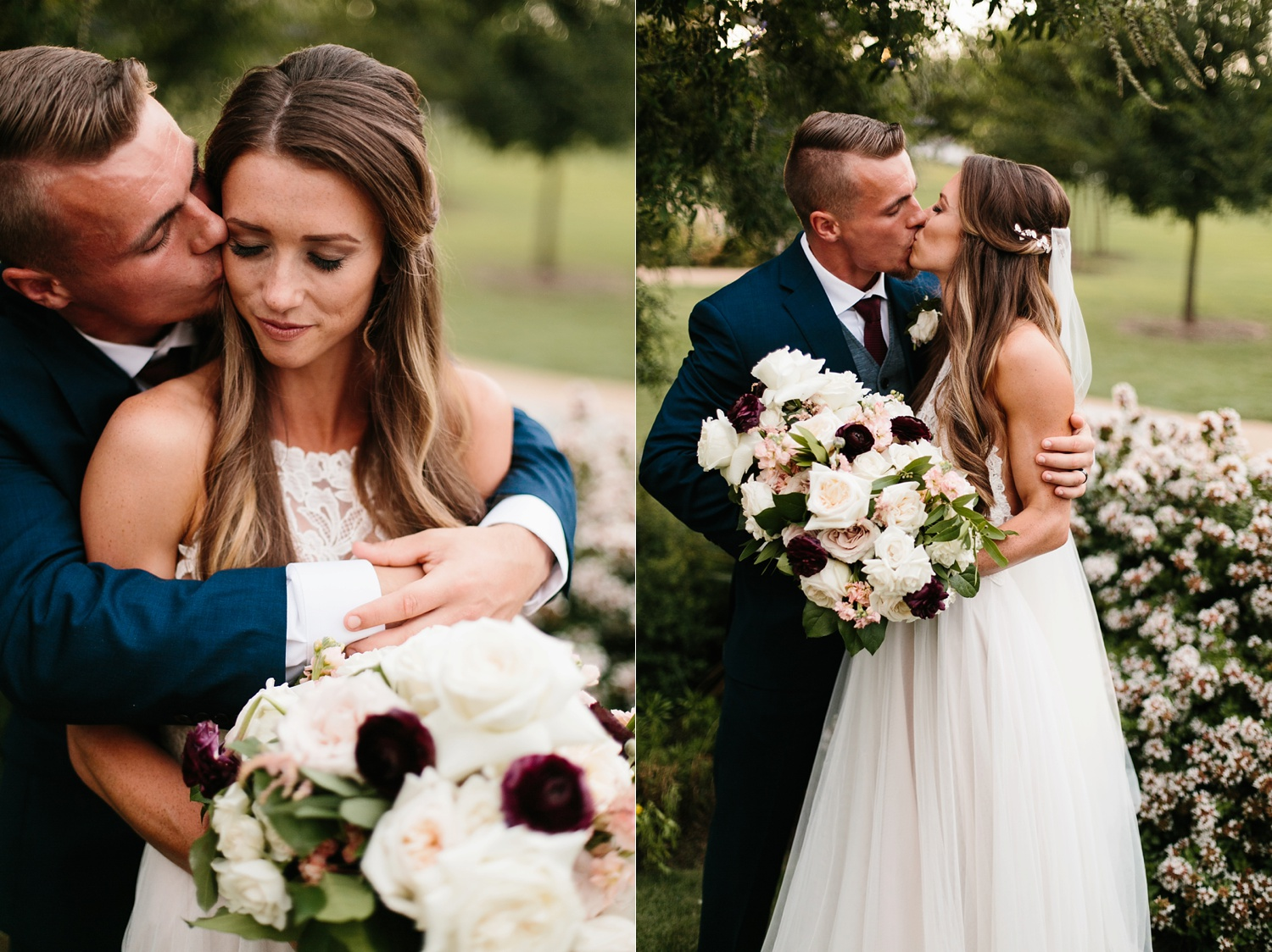 a passionate, emotion filled summer wedding with with navy and burgandy accents at The Brooks at Weatherford by North Texas Wedding Photographer, Rachel Meagan Photography _077