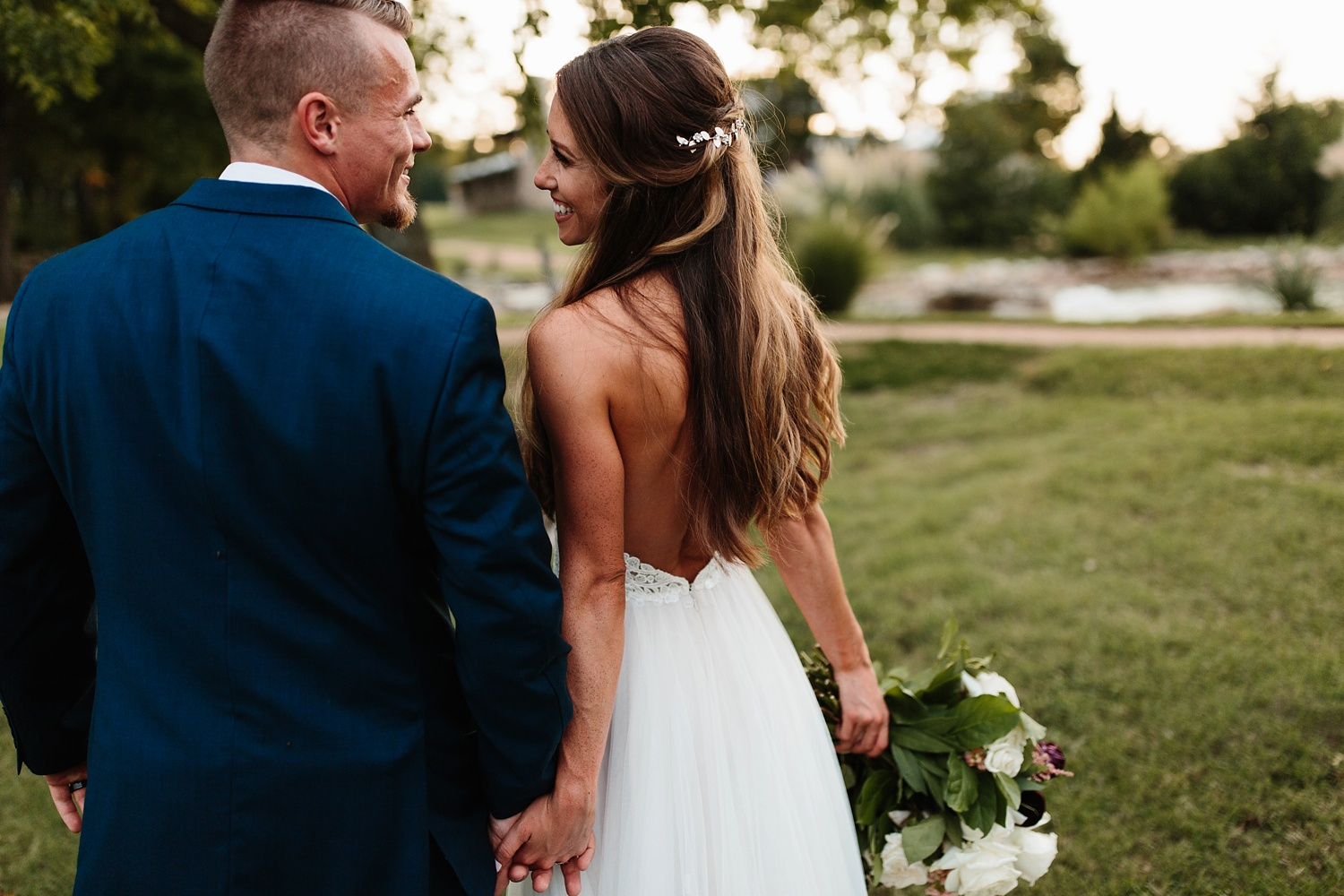 a passionate, emotion filled summer wedding with with navy and burgandy accents at The Brooks at Weatherford by North Texas Wedding Photographer, Rachel Meagan Photography _106