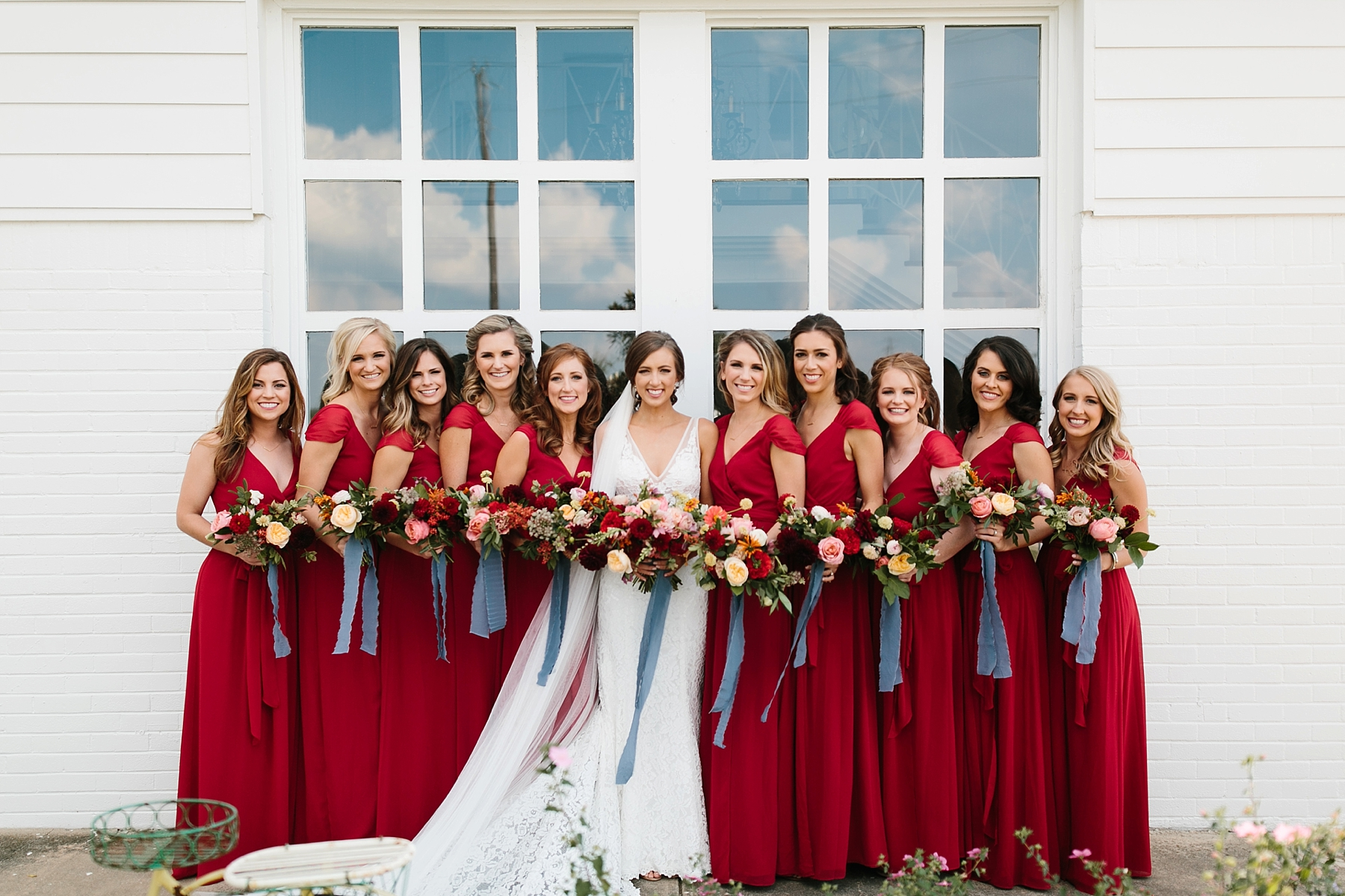 Lauren + Nathan _ a vibrant, wedding with a Navy, Red, and Duck Egg Blue Pallete at Firefly Gardens by North Texas Wedding Photographer Rachel Meagan Photography _ 028