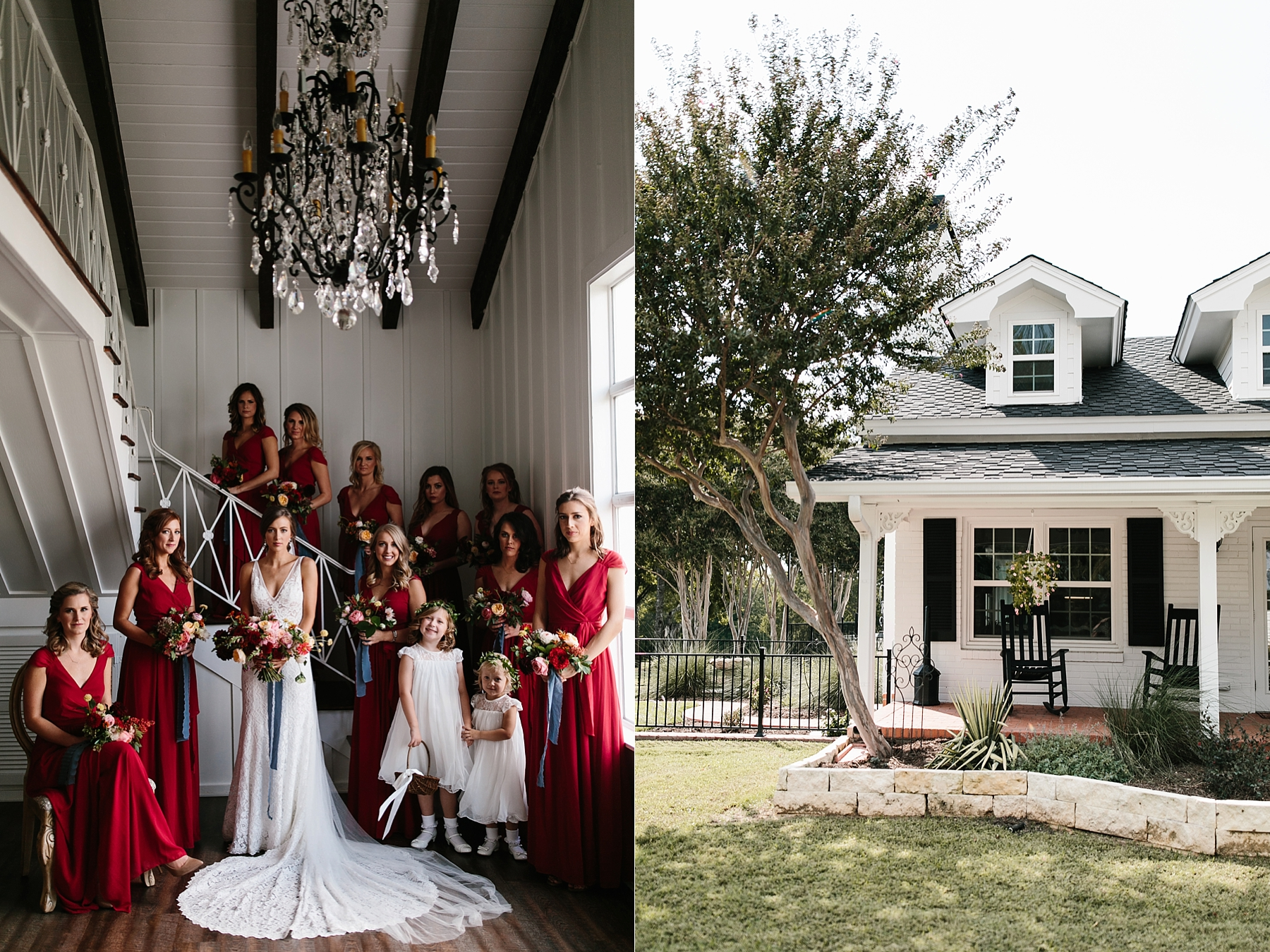 Lauren + Nathan _ a vibrant, wedding with a Navy, Red, and Duck Egg Blue Pallete at Firefly Gardens by North Texas Wedding Photographer Rachel Meagan Photography _ 031