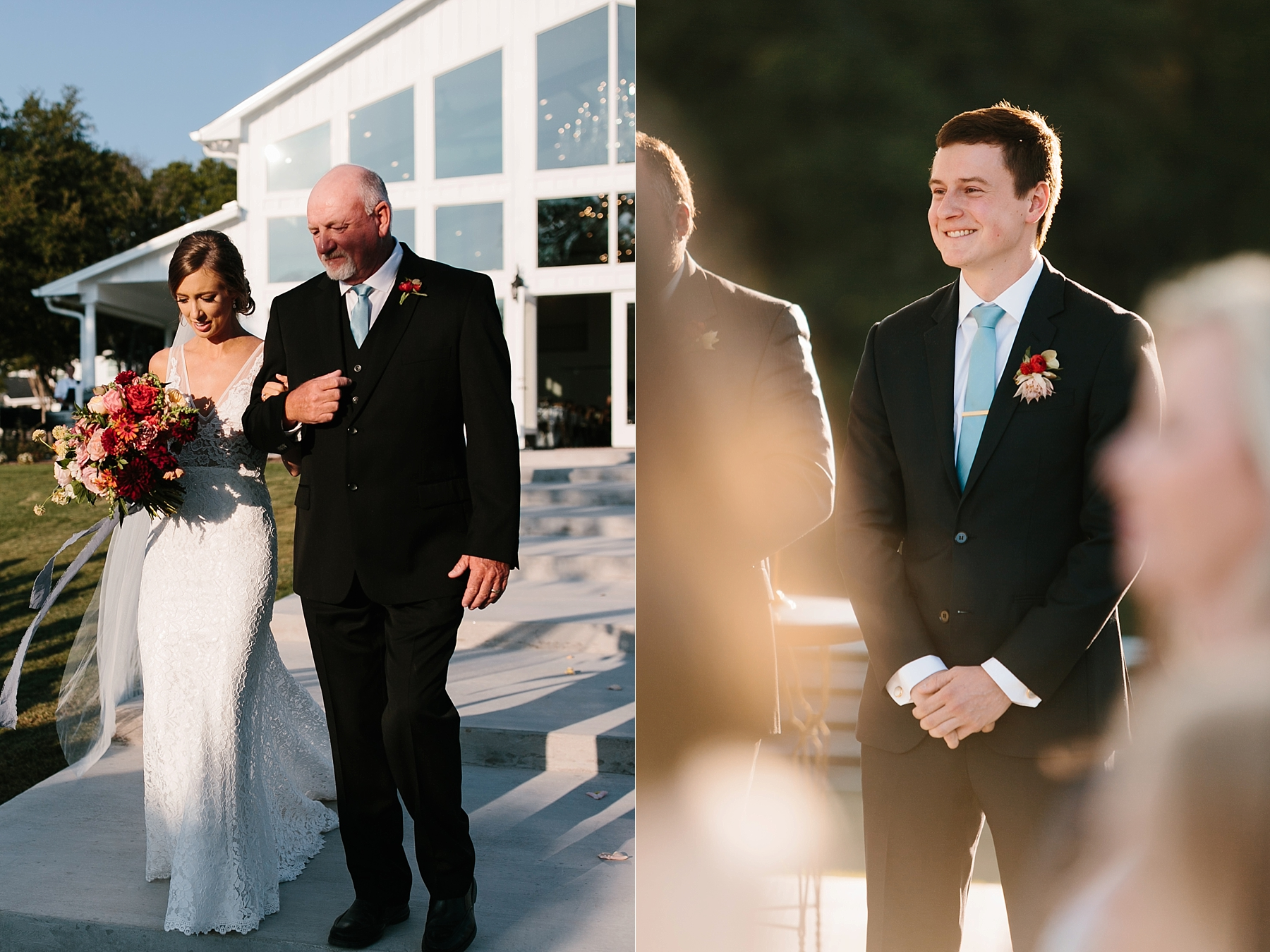 Lauren + Nathan _ a vibrant, wedding with a Navy, Red, and Duck Egg Blue Pallete at Firefly Gardens by North Texas Wedding Photographer Rachel Meagan Photography _ 070