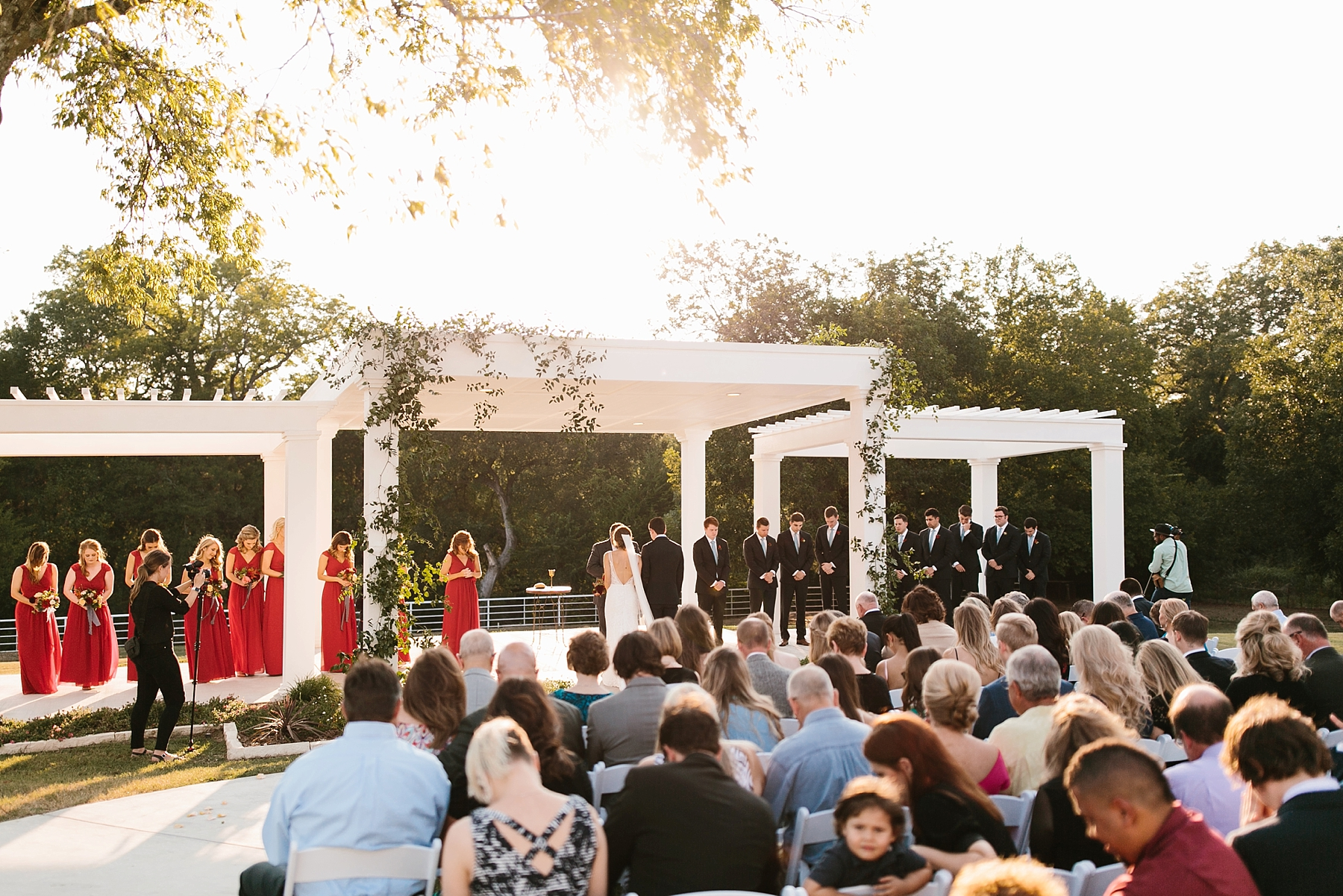 Lauren + Nathan _ a vibrant, wedding with a Navy, Red, and Duck Egg Blue Pallete at Firefly Gardens by North Texas Wedding Photographer Rachel Meagan Photography _ 075