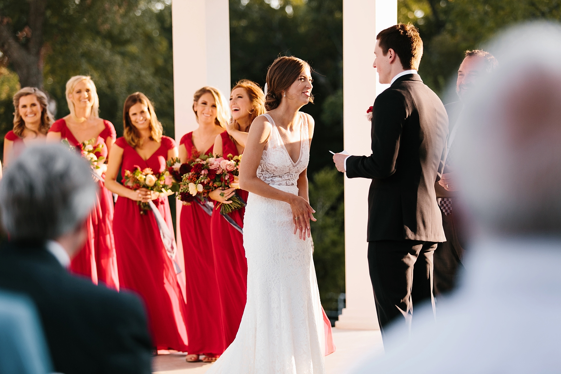 Lauren + Nathan _ a vibrant, wedding with a Navy, Red, and Duck Egg Blue Pallete at Firefly Gardens by North Texas Wedding Photographer Rachel Meagan Photography _ 078