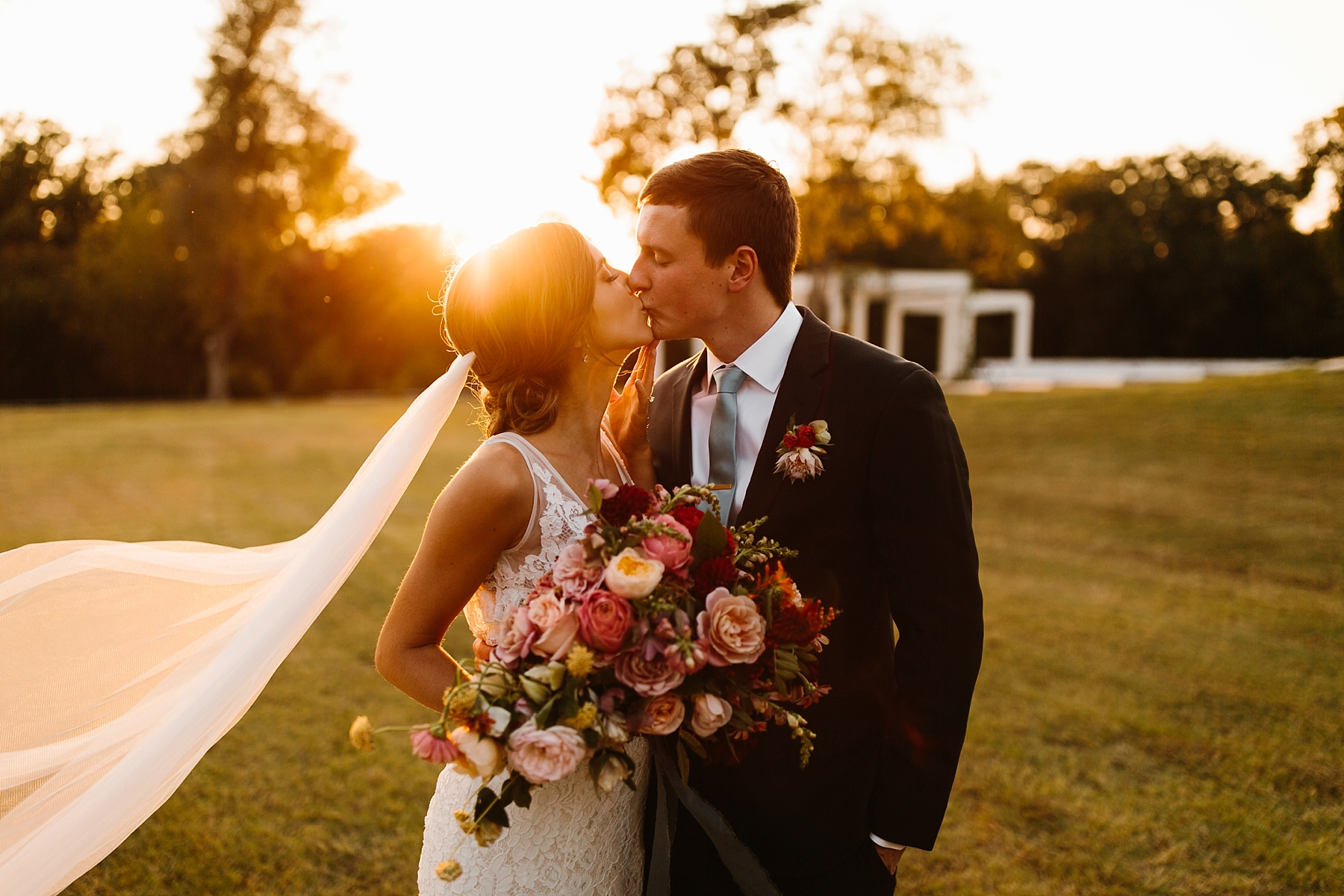 Lauren + Nathan _ a vibrant, wedding with a Navy, Red, and Duck Egg Blue Pallete at Firefly Gardens by North Texas Wedding Photographer Rachel Meagan Photography _ 102