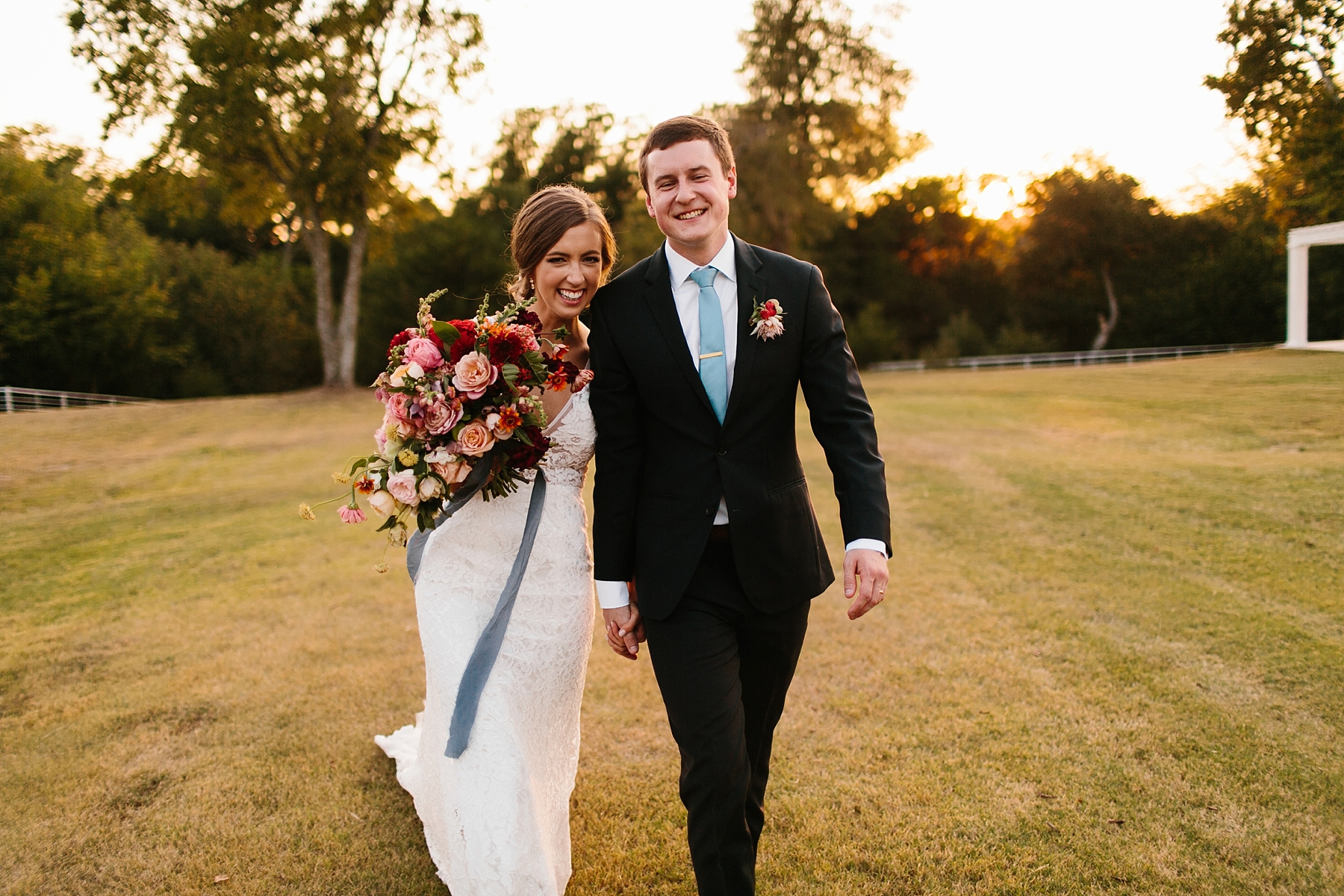 Lauren + Nathan _ a vibrant, wedding with a Navy, Red, and Duck Egg Blue Pallete at Firefly Gardens by North Texas Wedding Photographer Rachel Meagan Photography _ 119