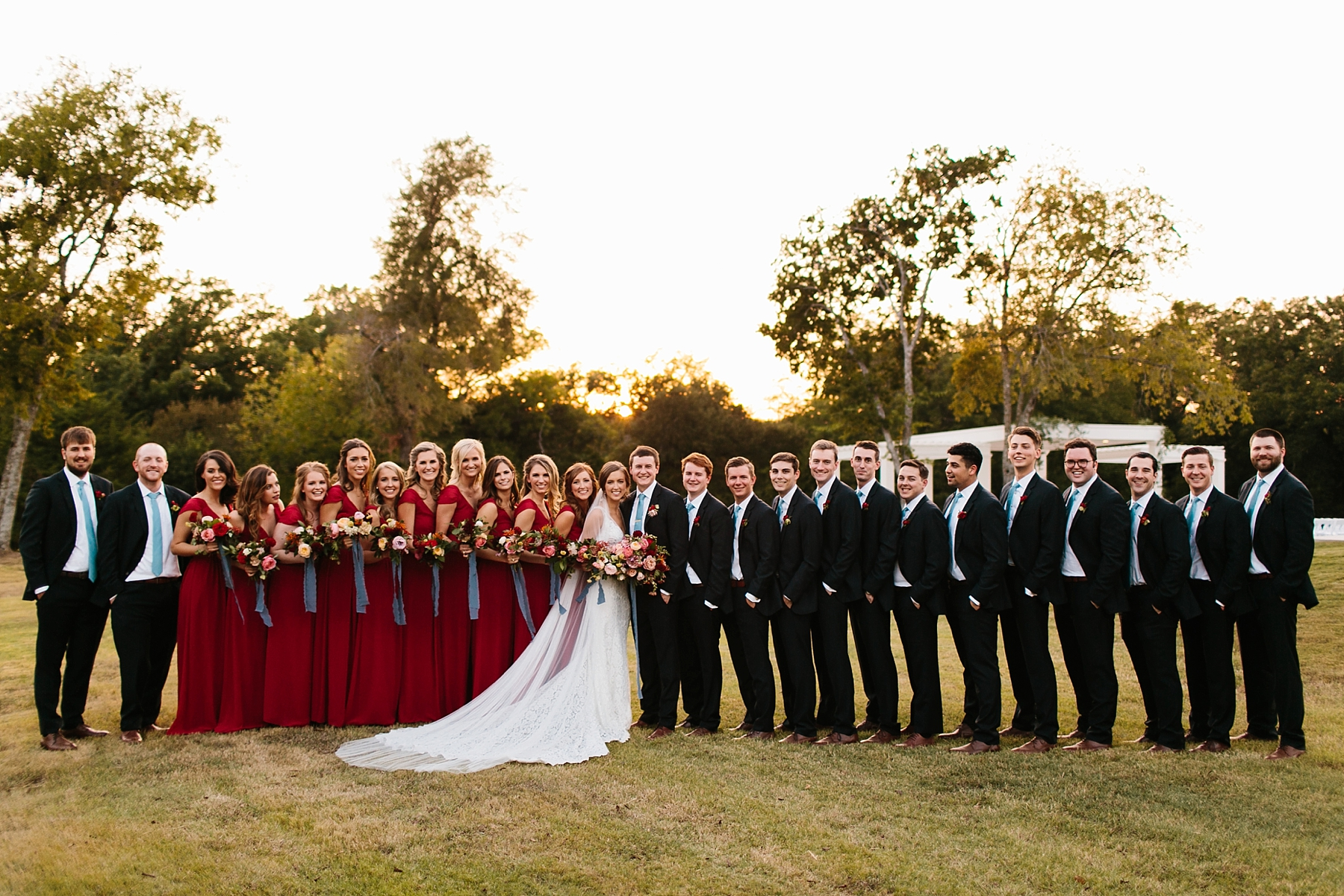 Lauren + Nathan _ a vibrant, wedding with a Navy, Red, and Duck Egg Blue Pallete at Firefly Gardens by North Texas Wedding Photographer Rachel Meagan Photography _ 120