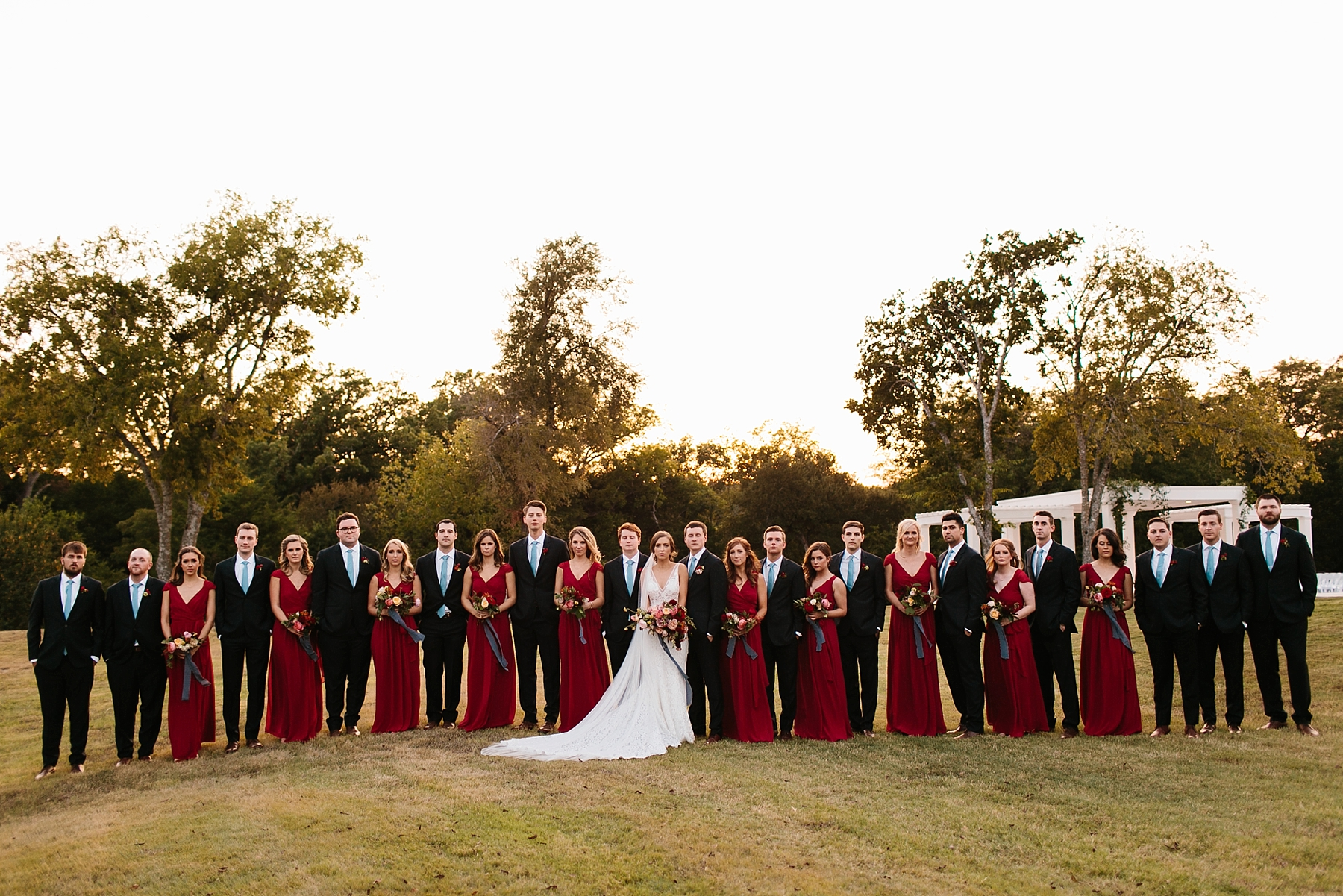 Lauren + Nathan _ a vibrant, wedding with a Navy, Red, and Duck Egg Blue Pallete at Firefly Gardens by North Texas Wedding Photographer Rachel Meagan Photography _ 121