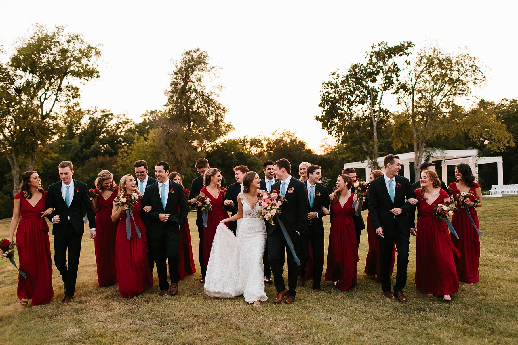 Lauren + Nathan _ a vibrant, wedding with a Navy, Red, and Duck Egg Blue Pallete at Firefly Gardens by North Texas Wedding Photographer Rachel Meagan Photography _ 122