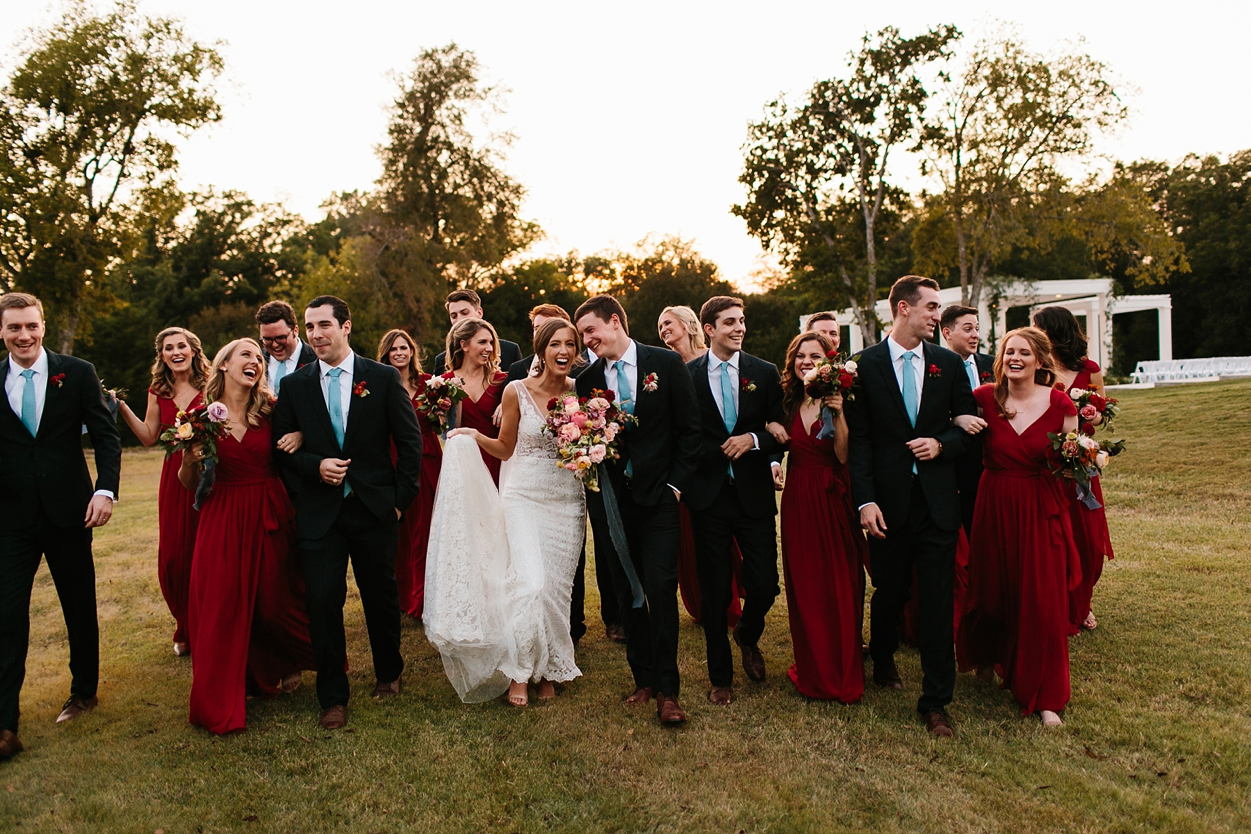 Lauren + Nathan _ a vibrant, wedding with a Navy, Red, and Duck Egg Blue Pallete at Firefly Gardens by North Texas Wedding Photographer Rachel Meagan Photography _ 123