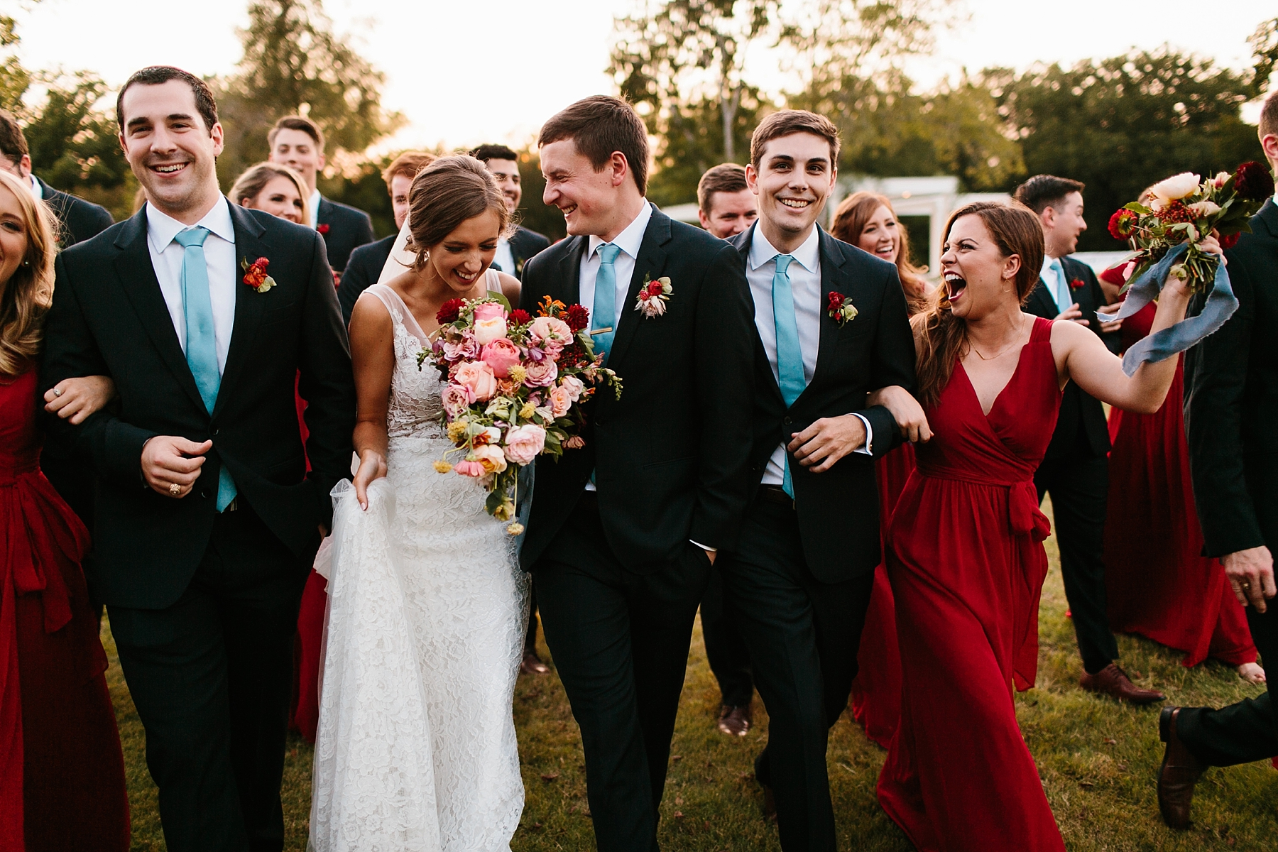 Lauren + Nathan _ a vibrant, wedding with a Navy, Red, and Duck Egg Blue Pallete at Firefly Gardens by North Texas Wedding Photographer Rachel Meagan Photography _ 125