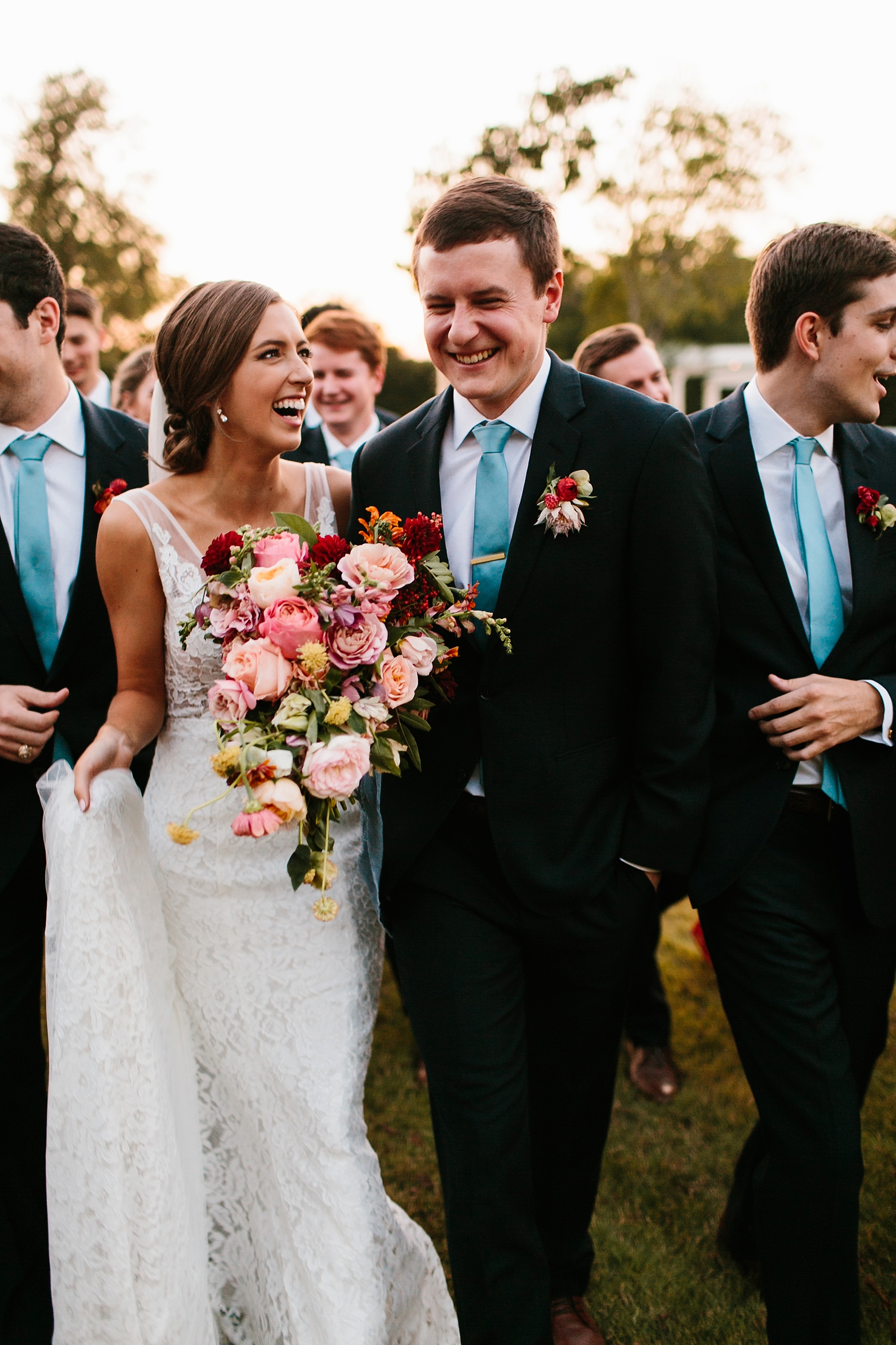 Lauren + Nathan _ a vibrant, wedding with a Navy, Red, and Duck Egg Blue Pallete at Firefly Gardens by North Texas Wedding Photographer Rachel Meagan Photography _ 126