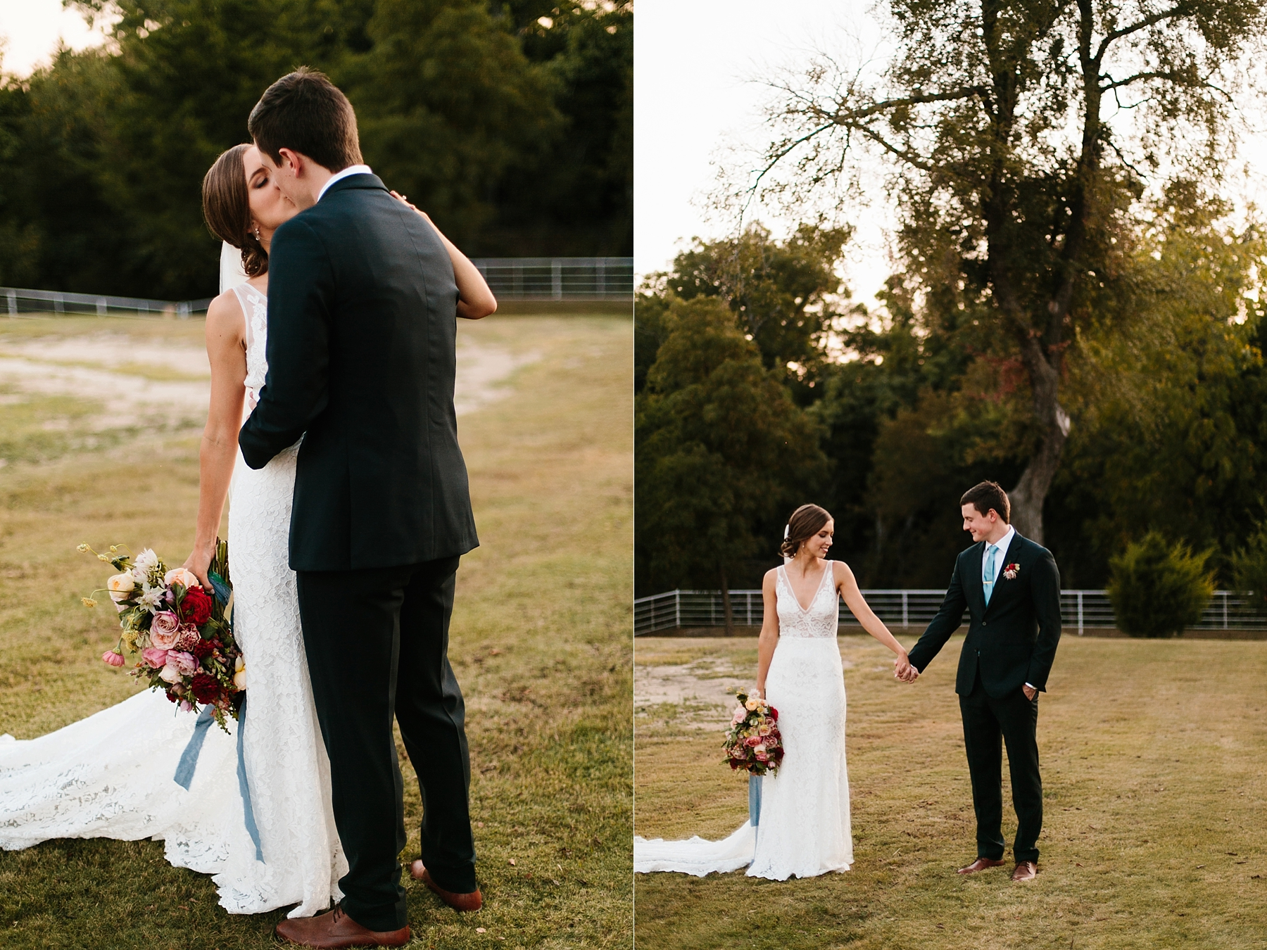 Lauren + Nathan _ a vibrant, wedding with a Navy, Red, and Duck Egg Blue Pallete at Firefly Gardens by North Texas Wedding Photographer Rachel Meagan Photography _ 139