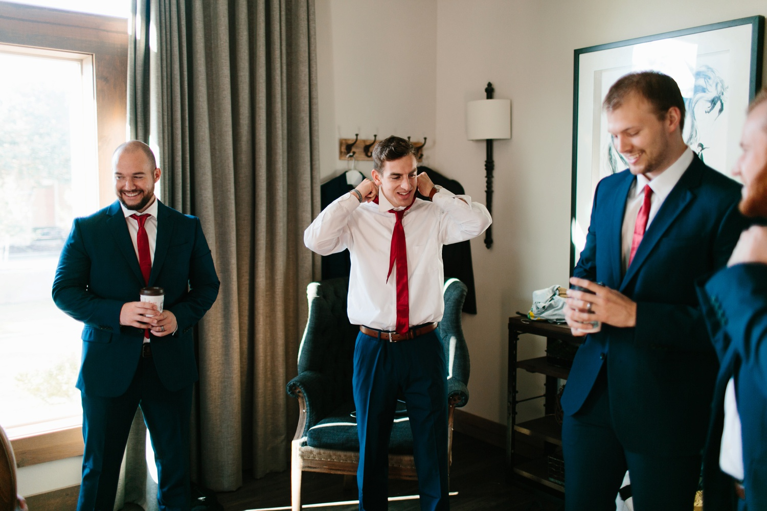 Grant + Lysette | a vibrant, deep burgundy and navy, and mixed metals wedding at Hidden Pines Chapel by North Texas Wedding Photographer Rachel Meagan Photography 012