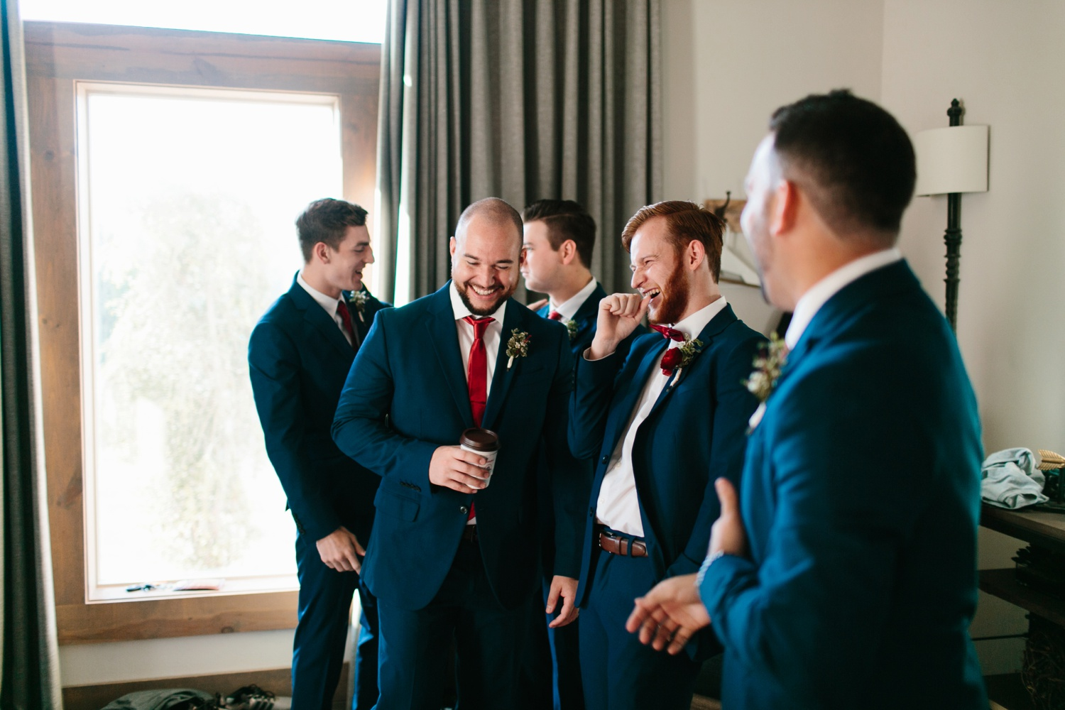 Grant + Lysette | a vibrant, deep burgundy and navy, and mixed metals wedding at Hidden Pines Chapel by North Texas Wedding Photographer Rachel Meagan Photography 014
