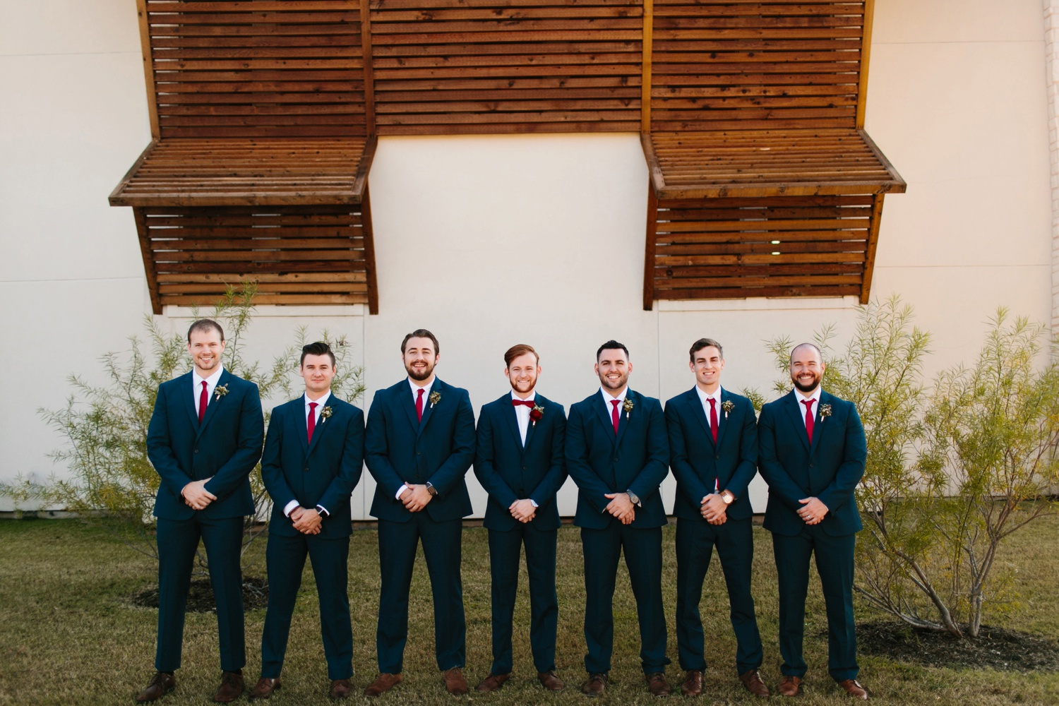 Grant + Lysette | a vibrant, deep burgundy and navy, and mixed metals wedding at Hidden Pines Chapel by North Texas Wedding Photographer Rachel Meagan Photography 022