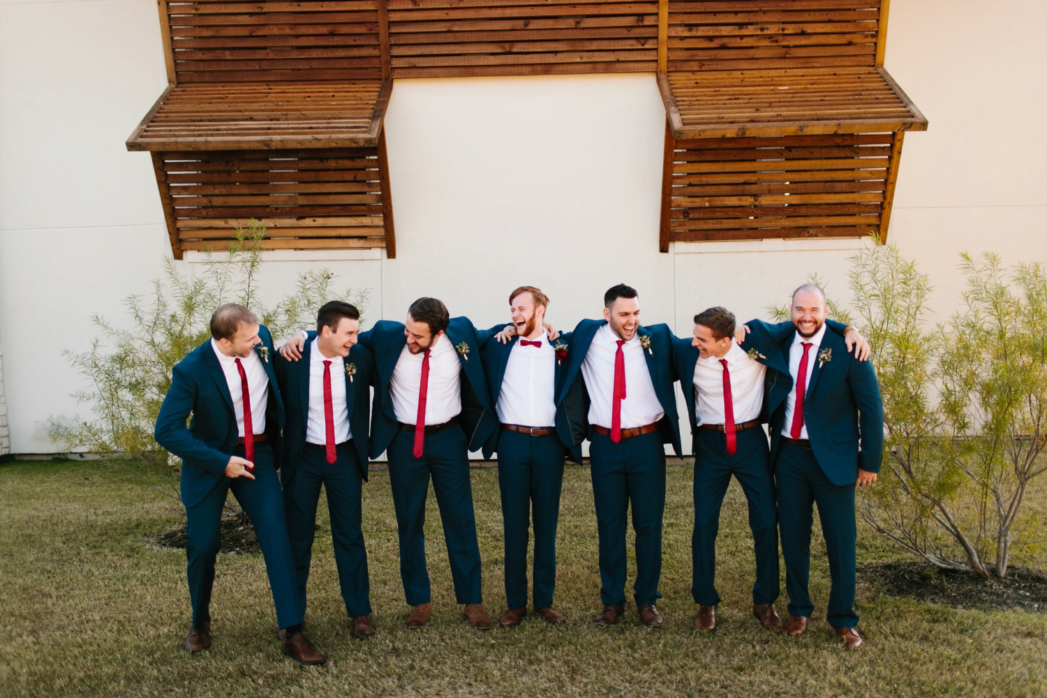 Grant + Lysette | a vibrant, deep burgundy and navy, and mixed metals wedding at Hidden Pines Chapel by North Texas Wedding Photographer Rachel Meagan Photography 024