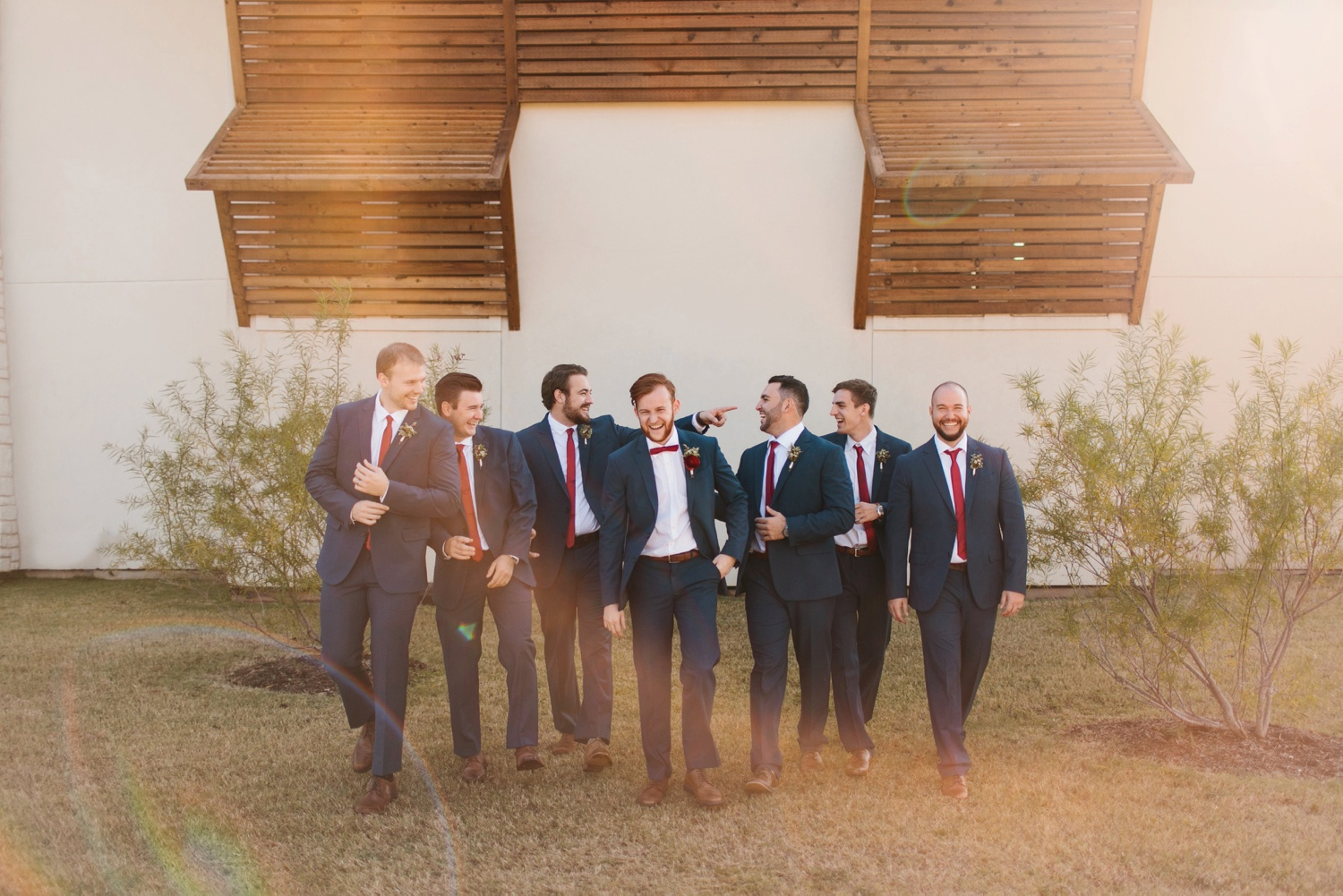 Grant + Lysette | a vibrant, deep burgundy and navy, and mixed metals wedding at Hidden Pines Chapel by North Texas Wedding Photographer Rachel Meagan Photography 025
