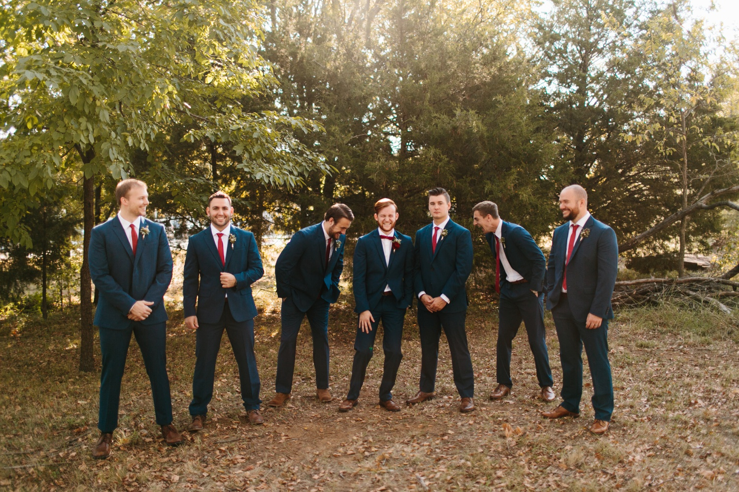 Grant + Lysette | a vibrant, deep burgundy and navy, and mixed metals wedding at Hidden Pines Chapel by North Texas Wedding Photographer Rachel Meagan Photography 028