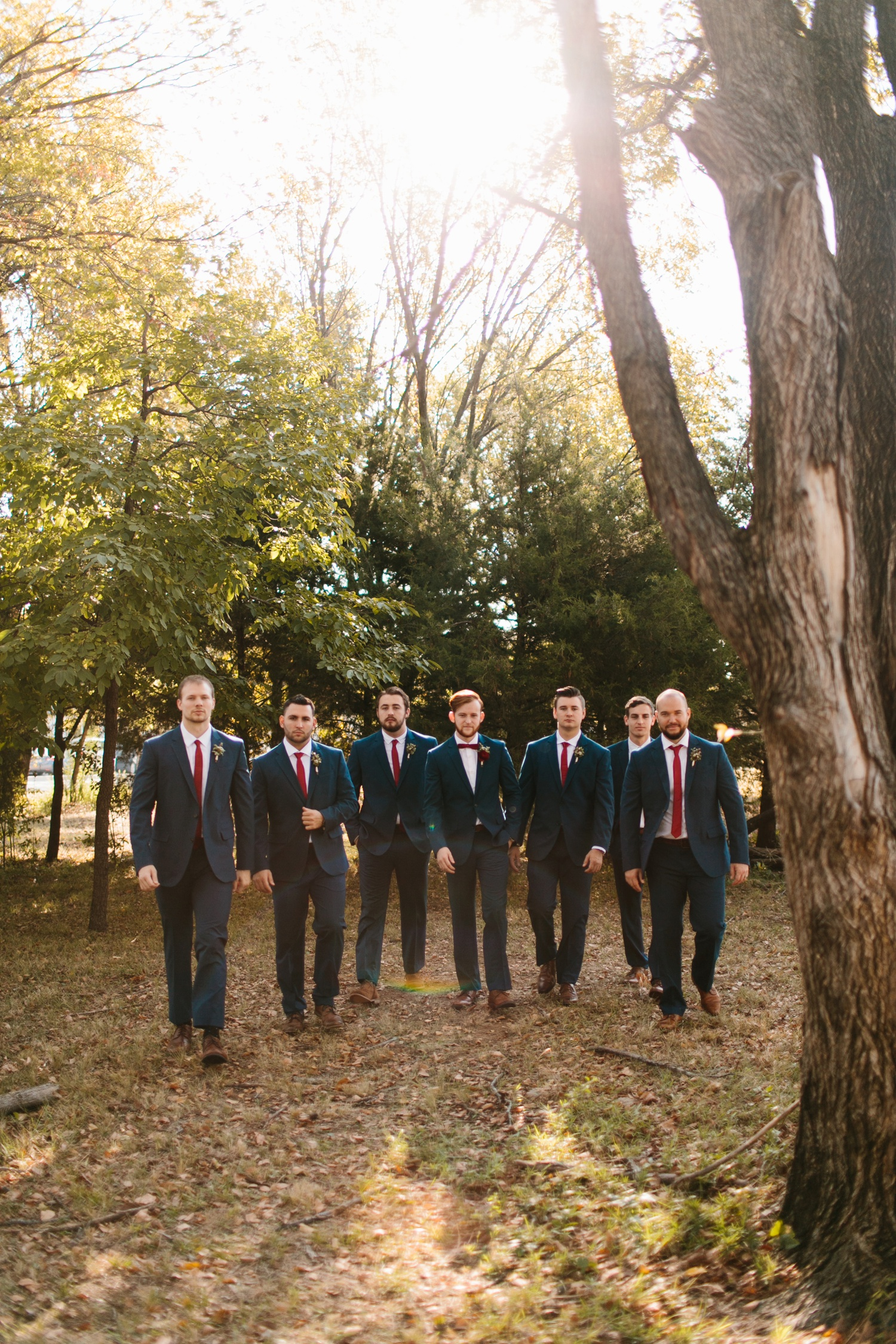 Grant + Lysette | a vibrant, deep burgundy and navy, and mixed metals wedding at Hidden Pines Chapel by North Texas Wedding Photographer Rachel Meagan Photography 029