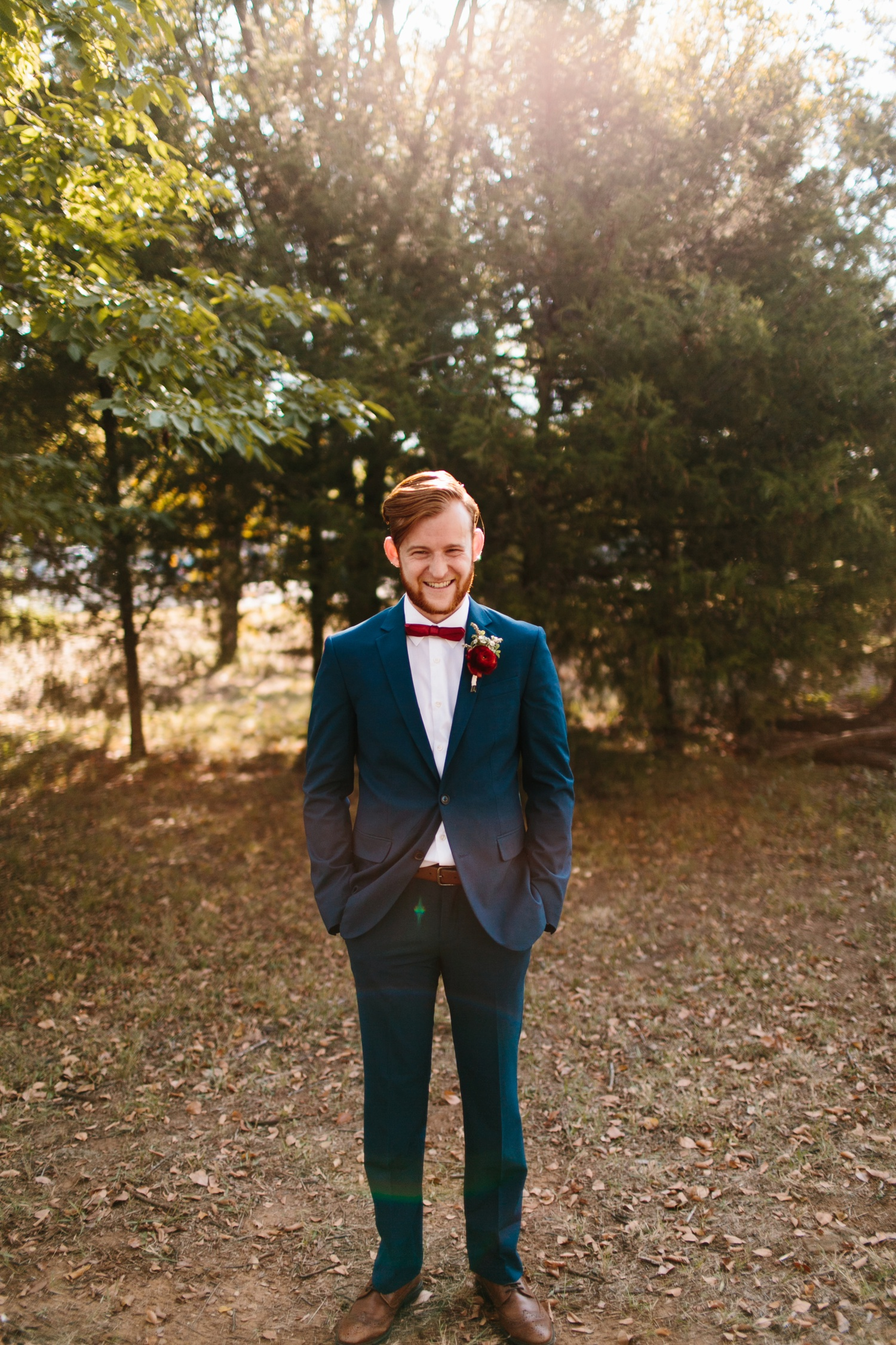 Grant + Lysette | a vibrant, deep burgundy and navy, and mixed metals wedding at Hidden Pines Chapel by North Texas Wedding Photographer Rachel Meagan Photography 032