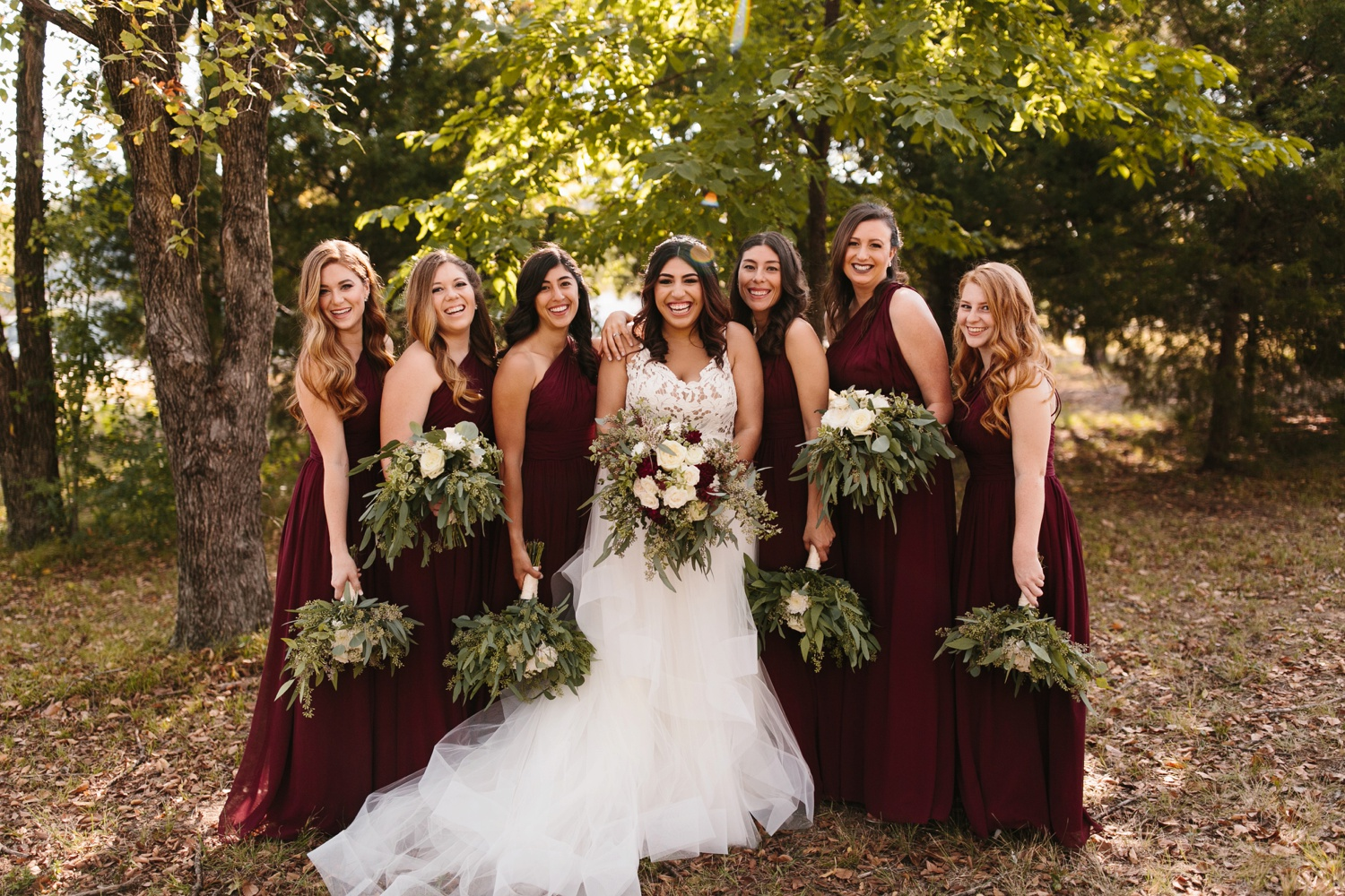 Grant + Lysette | a vibrant, deep burgundy and navy, and mixed metals wedding at Hidden Pines Chapel by North Texas Wedding Photographer Rachel Meagan Photography 038