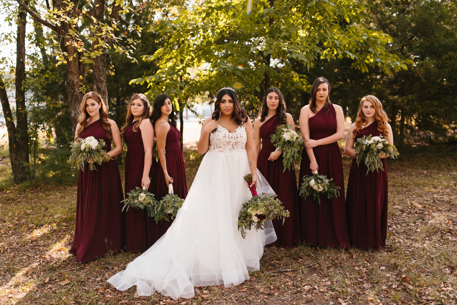 Grant + Lysette | a vibrant, deep burgundy and navy, and mixed metals wedding at Hidden Pines Chapel by North Texas Wedding Photographer Rachel Meagan Photography 042