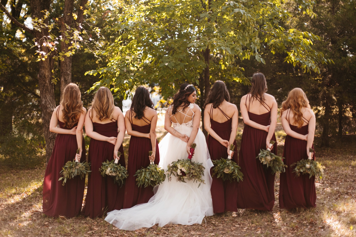 Grant + Lysette | a vibrant, deep burgundy and navy, and mixed metals wedding at Hidden Pines Chapel by North Texas Wedding Photographer Rachel Meagan Photography 043