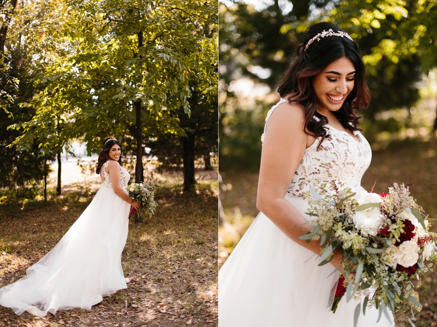 Grant + Lysette | a vibrant, deep burgundy and navy, and mixed metals wedding at Hidden Pines Chapel by North Texas Wedding Photographer Rachel Meagan Photography 044