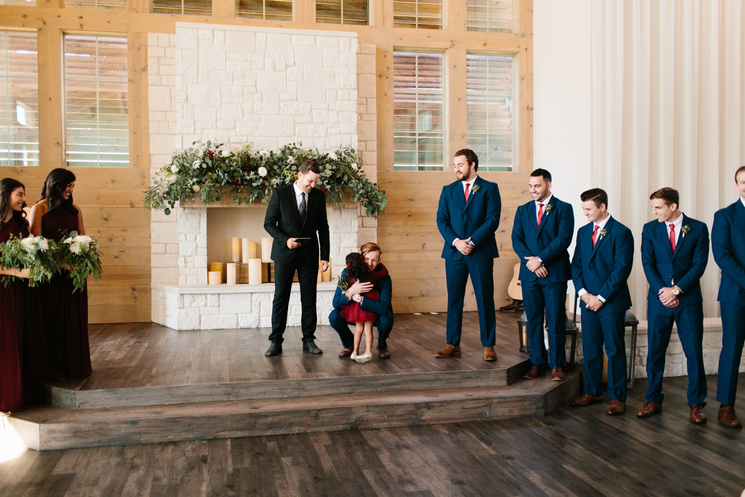 Grant + Lysette | a vibrant, deep burgundy and navy, and mixed metals wedding at Hidden Pines Chapel by North Texas Wedding Photographer Rachel Meagan Photography 058