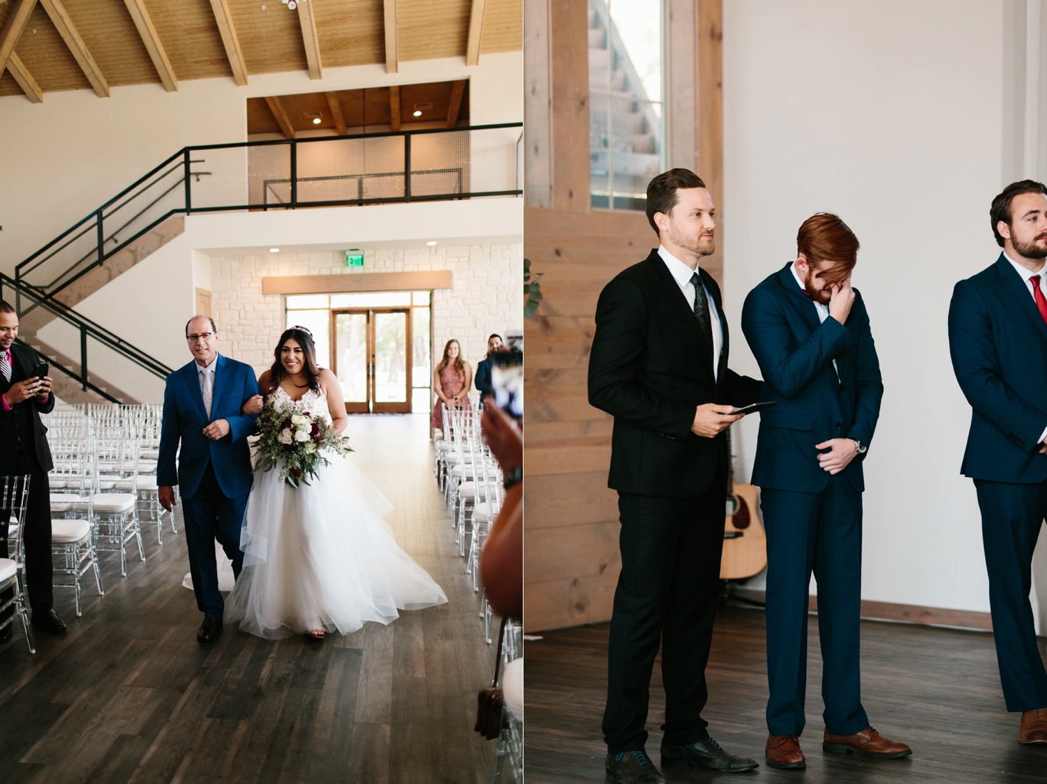 Grant + Lysette | a vibrant, deep burgundy and navy, and mixed metals wedding at Hidden Pines Chapel by North Texas Wedding Photographer Rachel Meagan Photography 061
