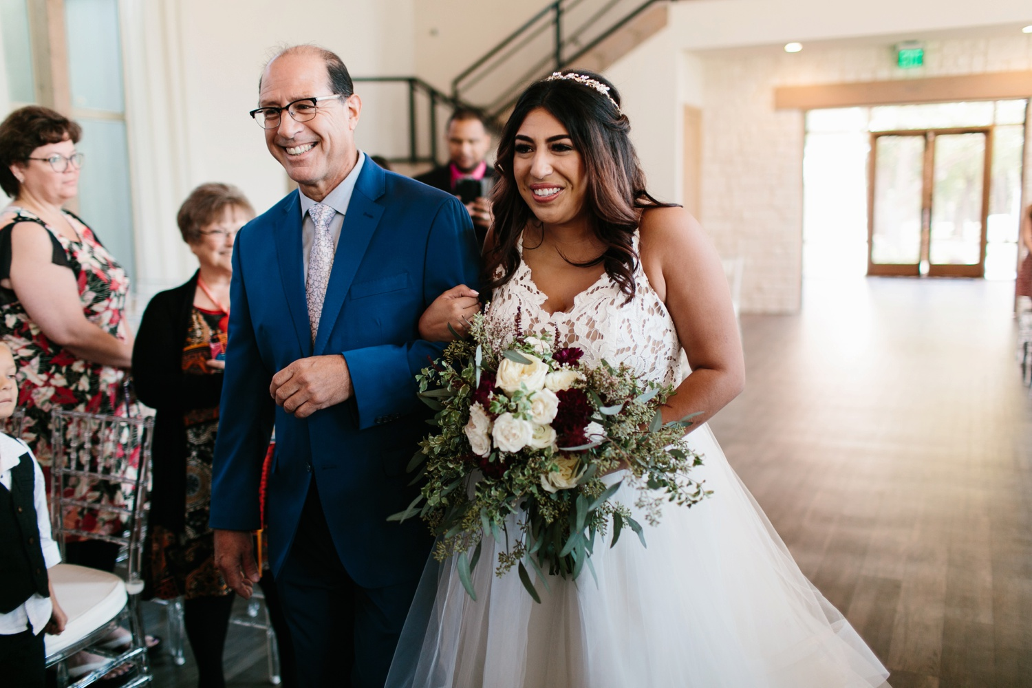 Grant + Lysette | a vibrant, deep burgundy and navy, and mixed metals wedding at Hidden Pines Chapel by North Texas Wedding Photographer Rachel Meagan Photography 062