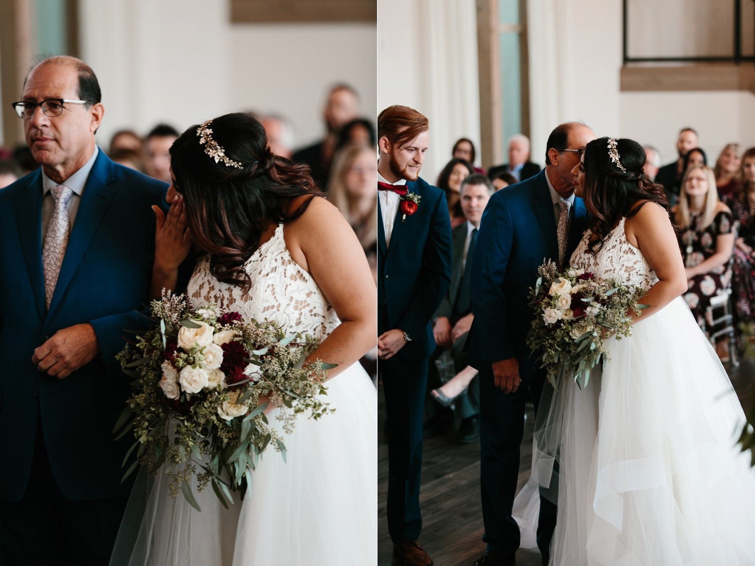 Grant + Lysette | a vibrant, deep burgundy and navy, and mixed metals wedding at Hidden Pines Chapel by North Texas Wedding Photographer Rachel Meagan Photography 066