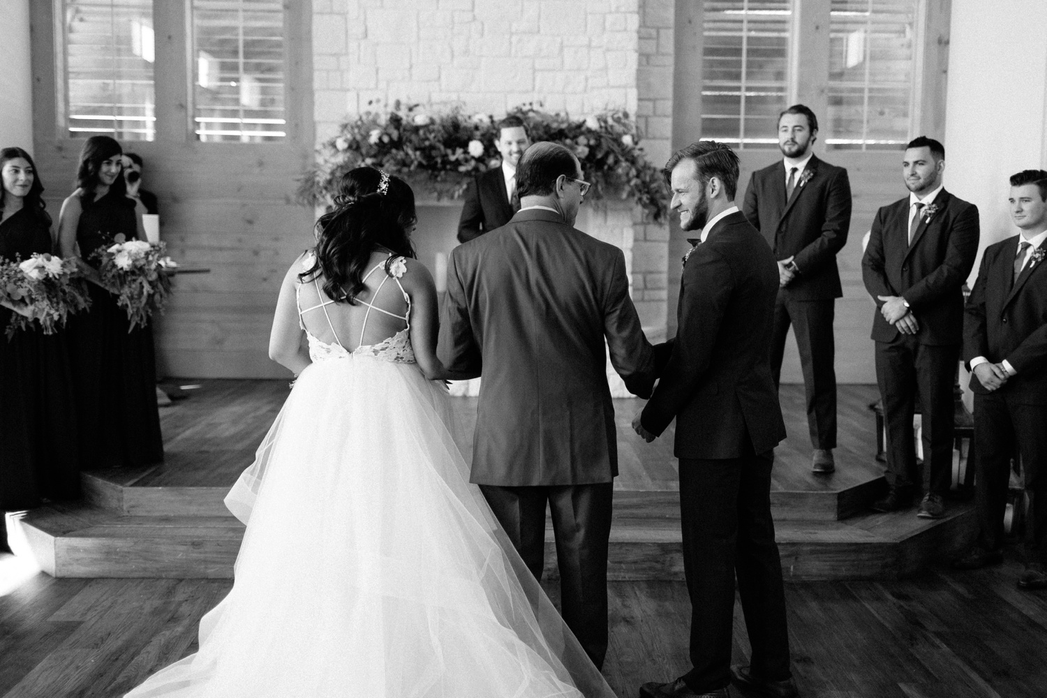 Grant + Lysette | a vibrant, deep burgundy and navy, and mixed metals wedding at Hidden Pines Chapel by North Texas Wedding Photographer Rachel Meagan Photography 067